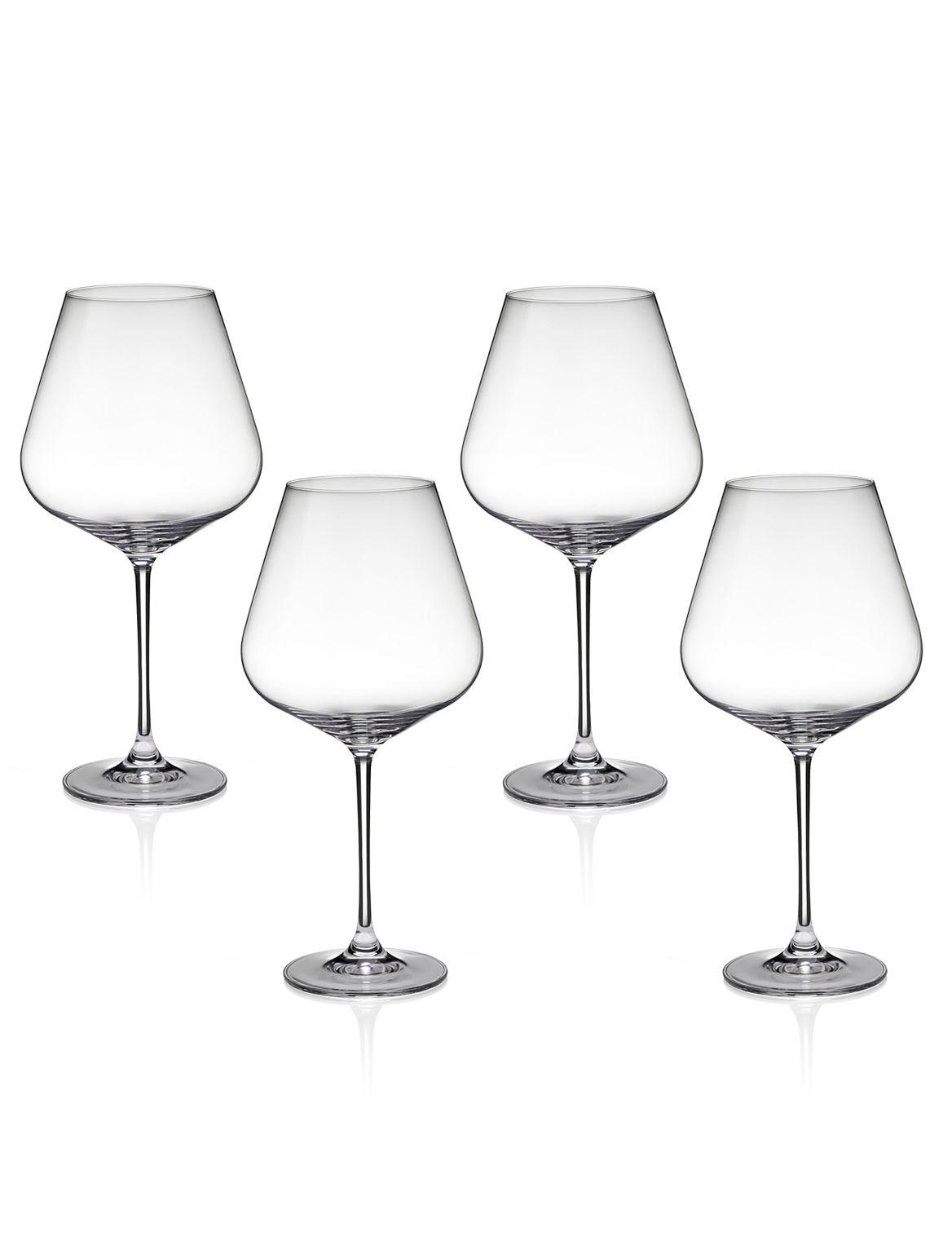 Nova– 4verres ? vin rouge. Hauteur: 25,5cm;Contenance: 91cl;Base ronde;Des grands verres modernes, pour un sens de la mode aigu;De grand