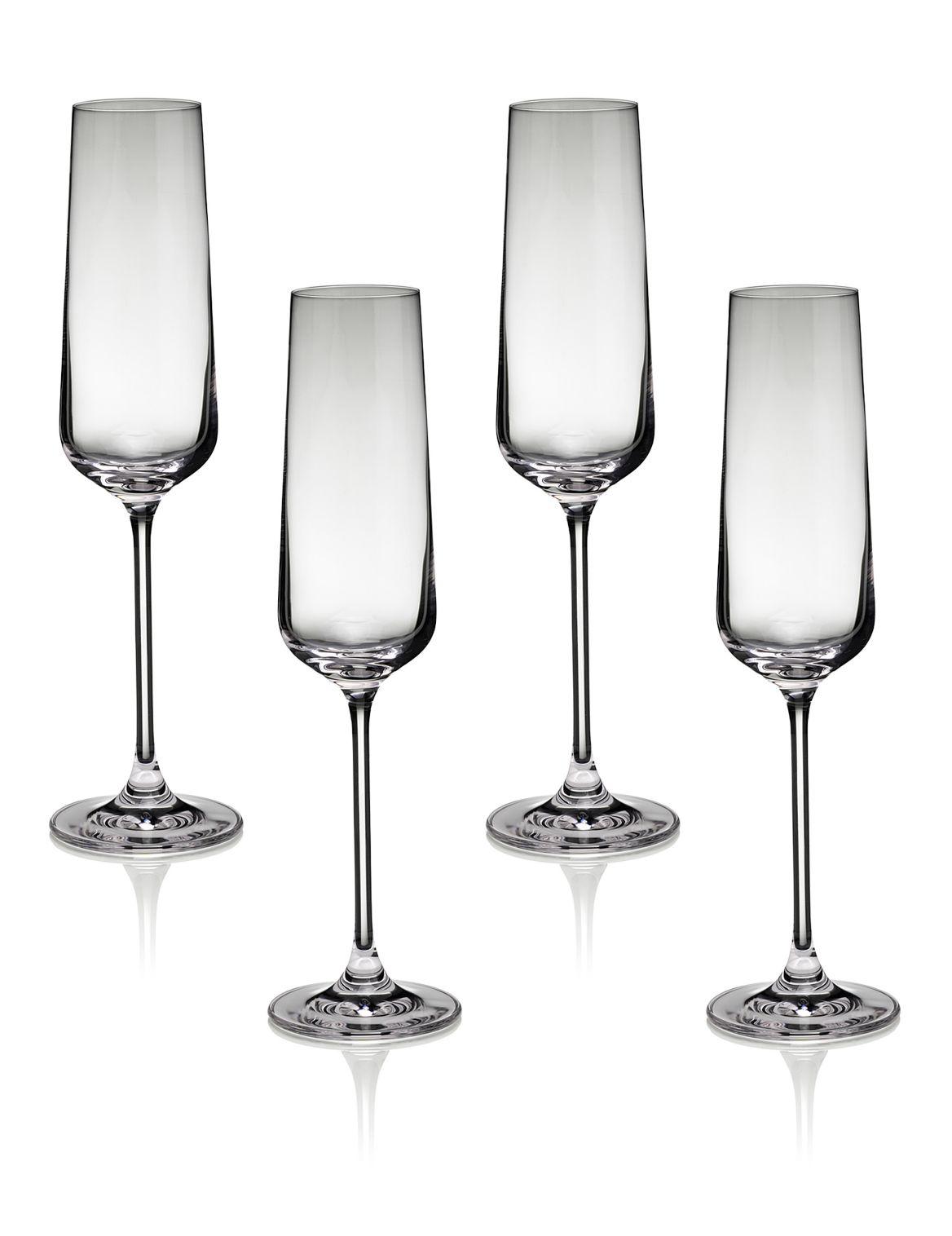 Nova– 4fl??tes ? champagne. DimensionsHauteur:27 cm;Volume/Capacit??:27 cl;Fiche produitDes grands verres modernes, pour un sens de la m
