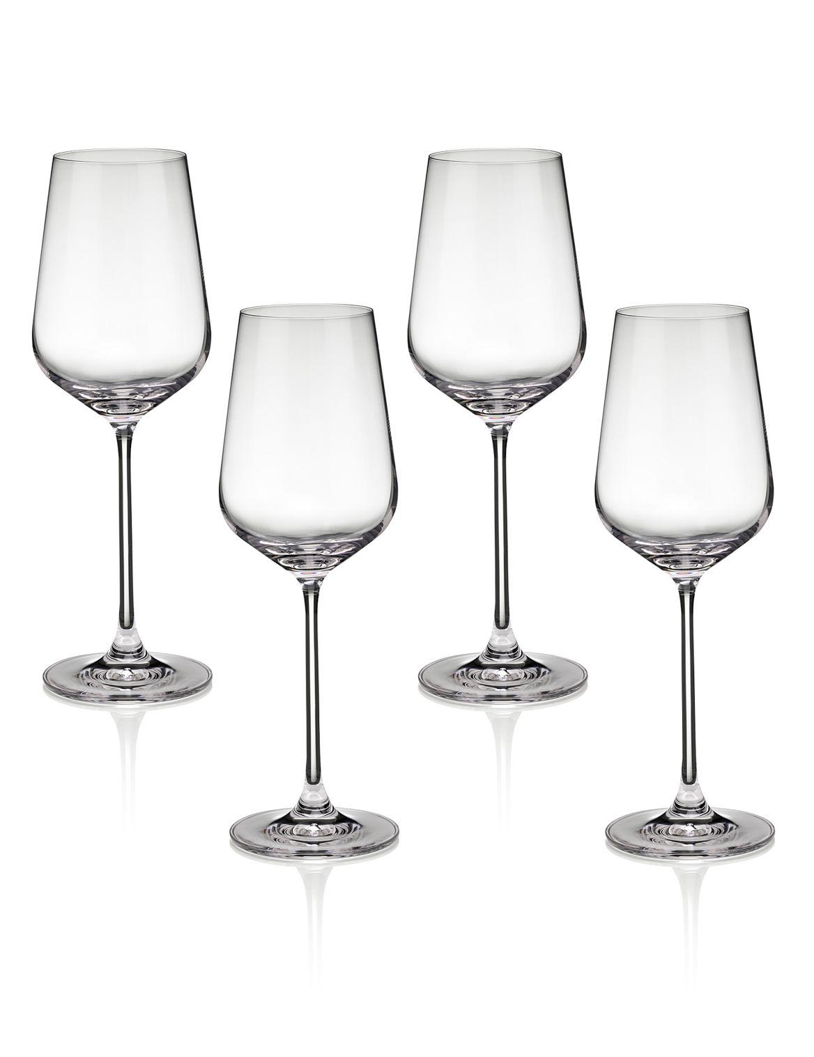 Nova– 4verres ? vin blanc. Hauteur: 24,5cm;Contenance: 42cl;Pied fin;Base ronde;Des grands verres modernes, pour un sens de la mode aigu