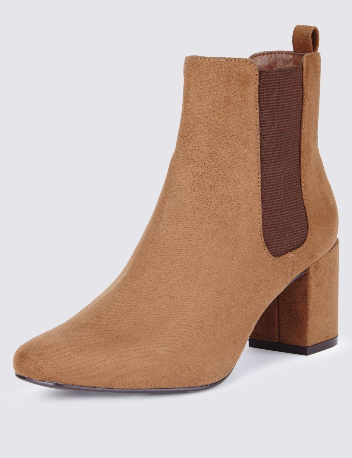 Block Heel Chelsea Boot biscuit
