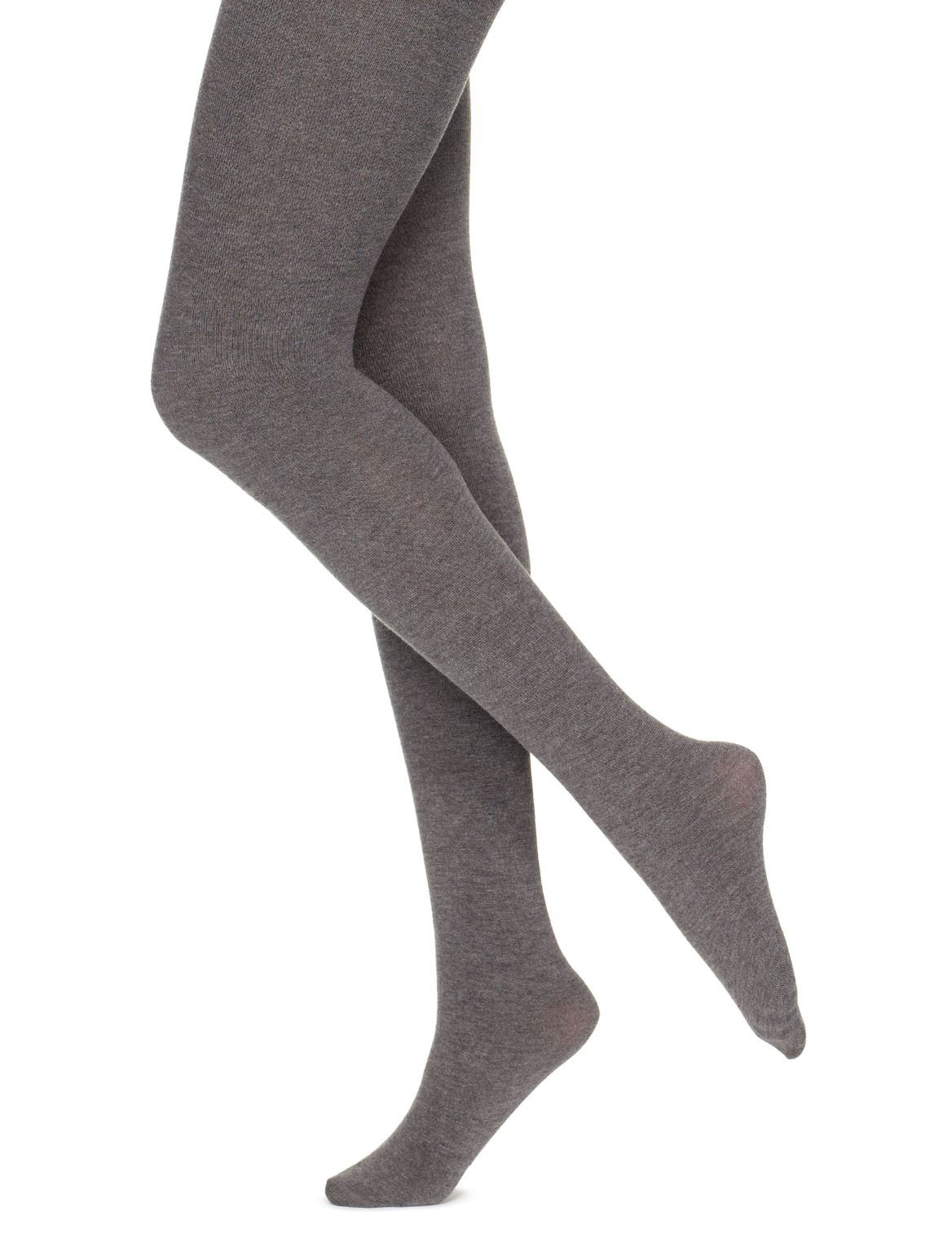 100 Denier Heavyweight Supersoft Opaque Tights grey marl