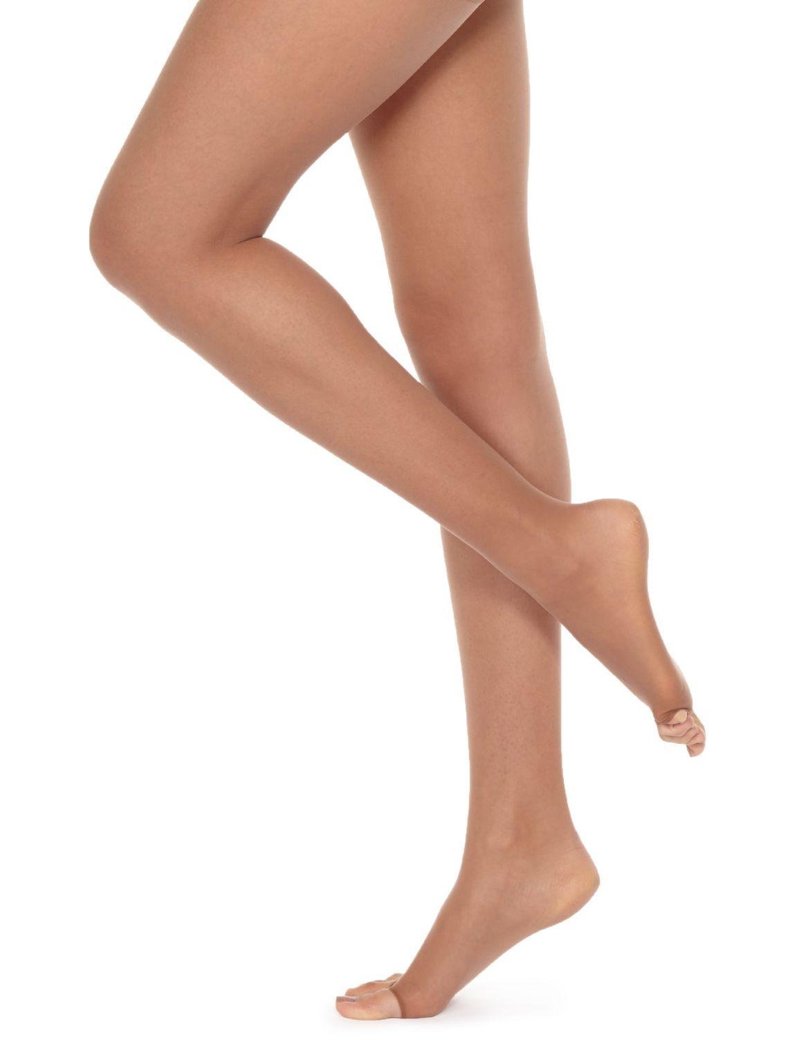 7 Denier Cool Comfort™ Ladder Resist Sheer Open Toe Tights suntan