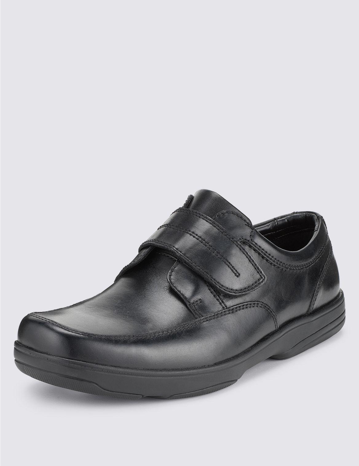 Grandes tailles– Chaussures en cuir extra-larges. StyleForme du produit:Bande auto-agrippante;Coupe:Coupe extra-large;Fermeture:Bande auto-agr