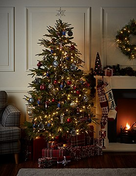 7Ft Fraser Fir Pre Lit Christmas Tree -M&S
