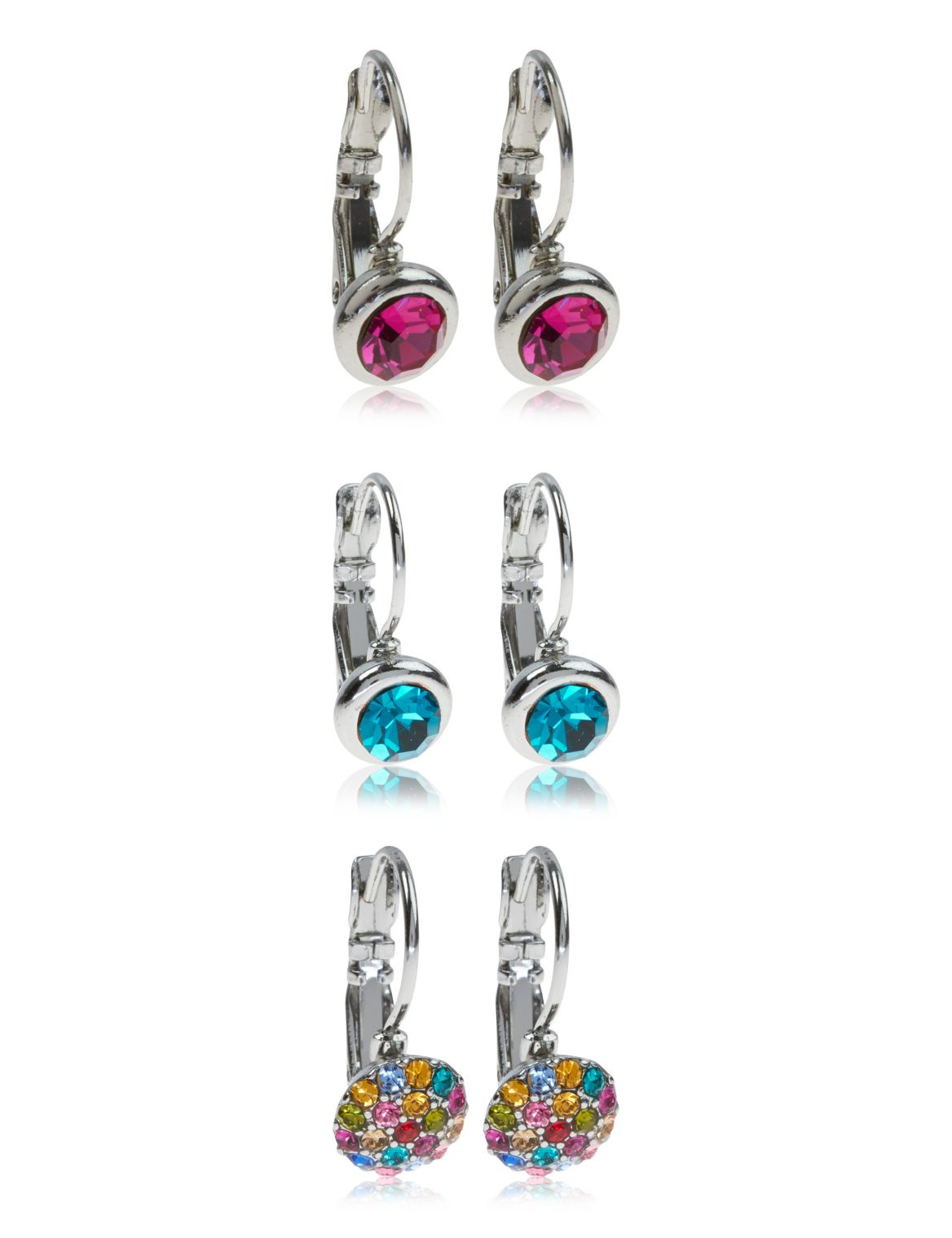 Assorted Diamanté Earrings Set multi