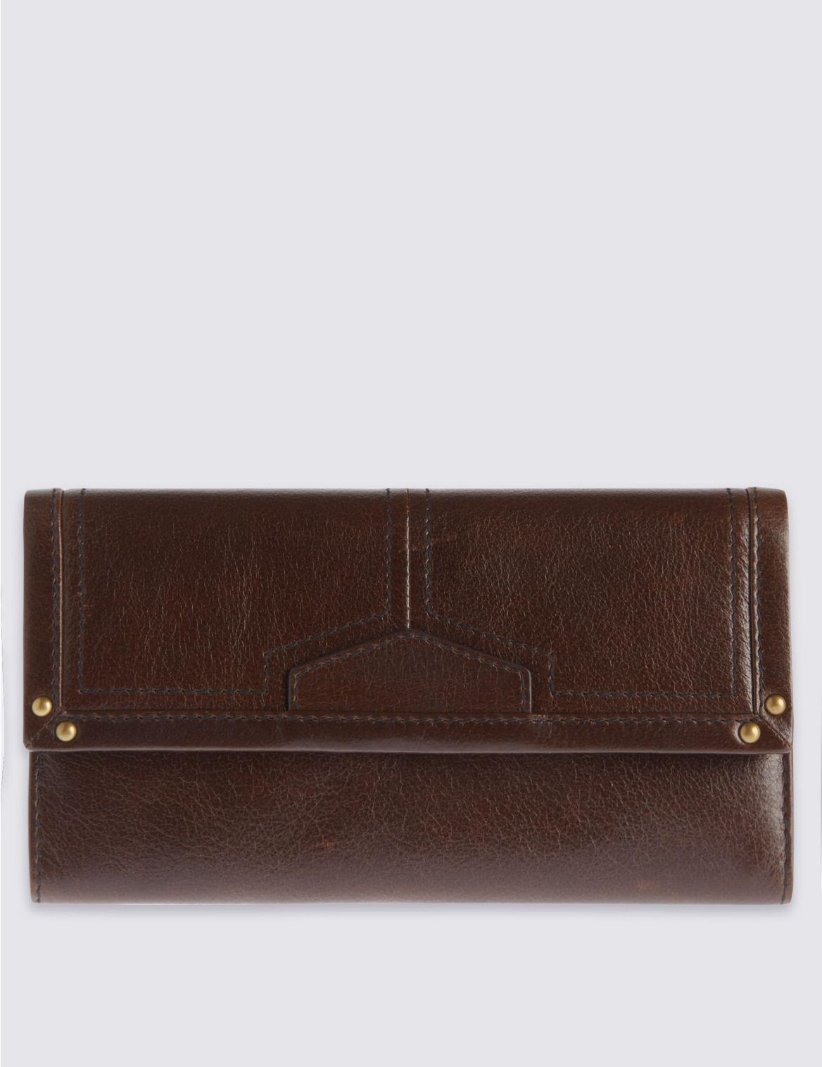 Porte-monnaie en cuir avec patte, doté de la technologie Cardsafe™