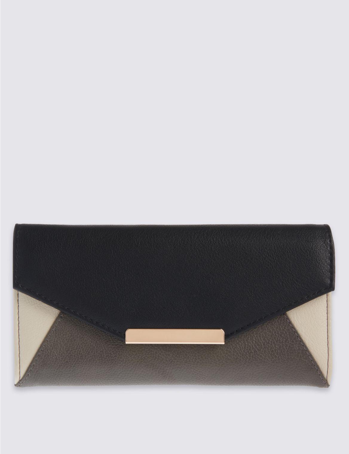 Portefeuille à motif color block, doté de la technologie Cardsafe™