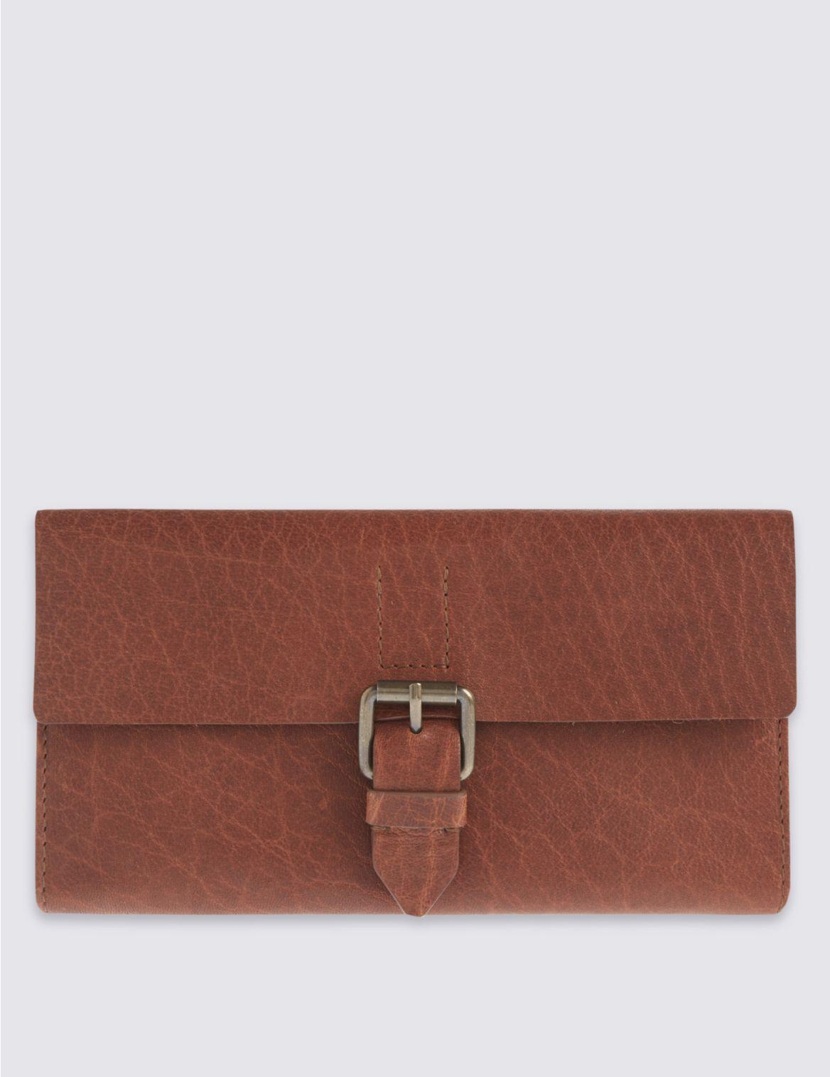 Porte-monnaie en cuir style décontracté