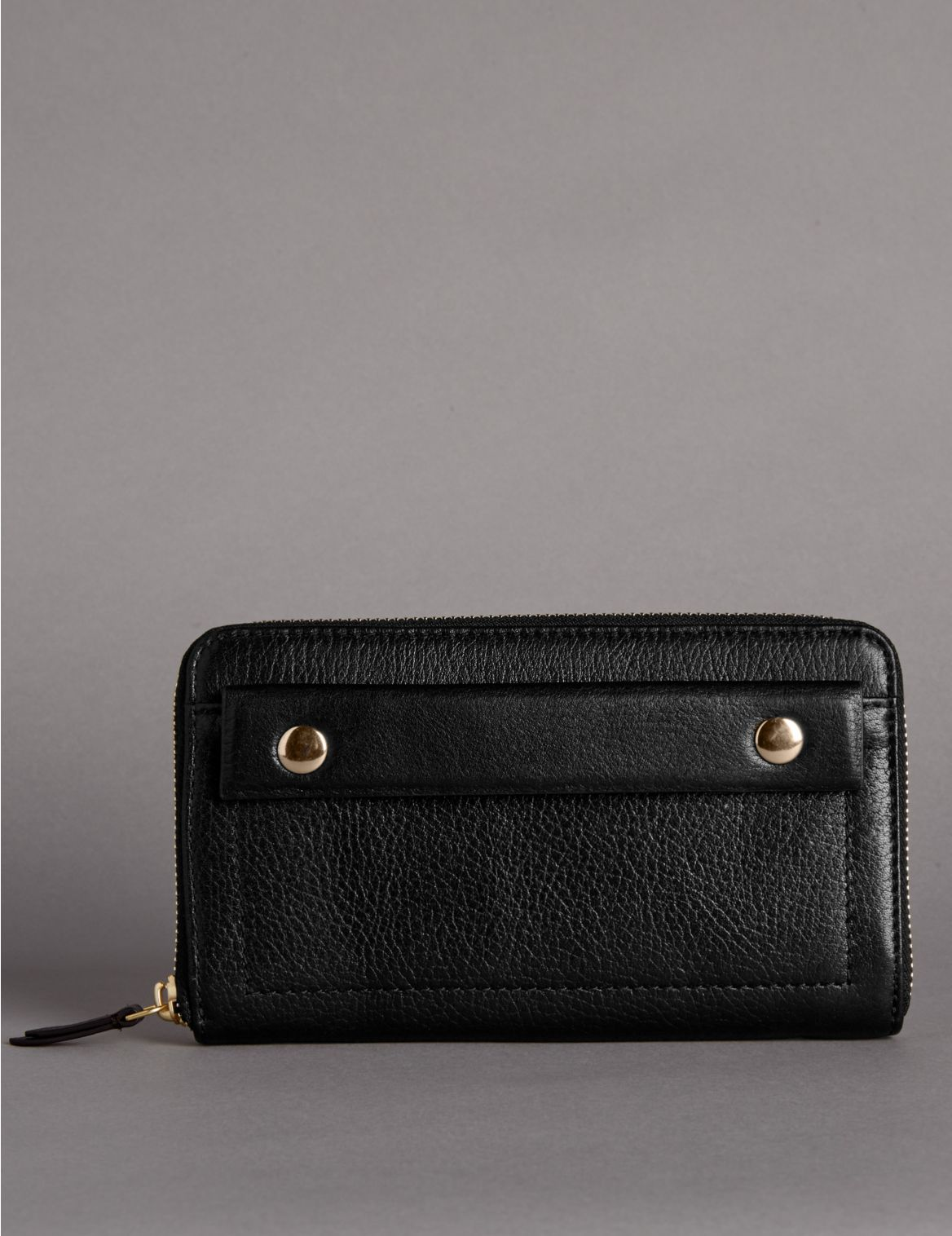 Leather Zip Around  Purse with Cardsafe™
