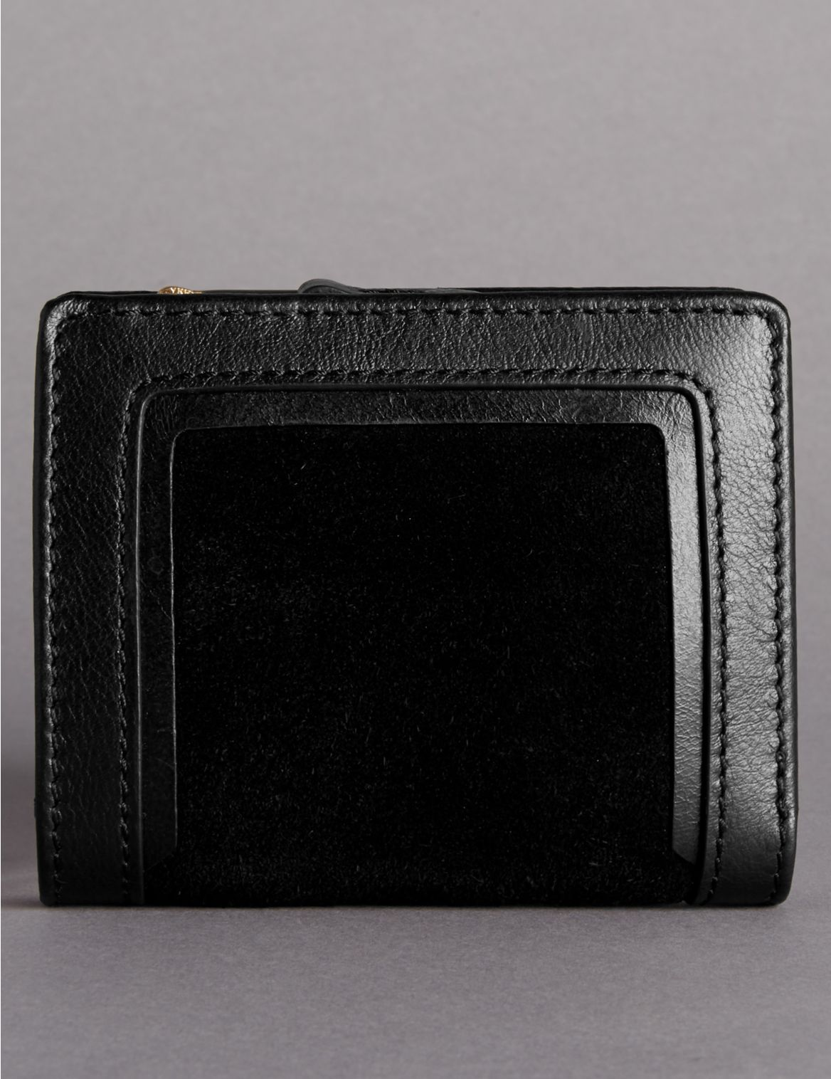 Suede Mix Small Purse with Cardsafe™