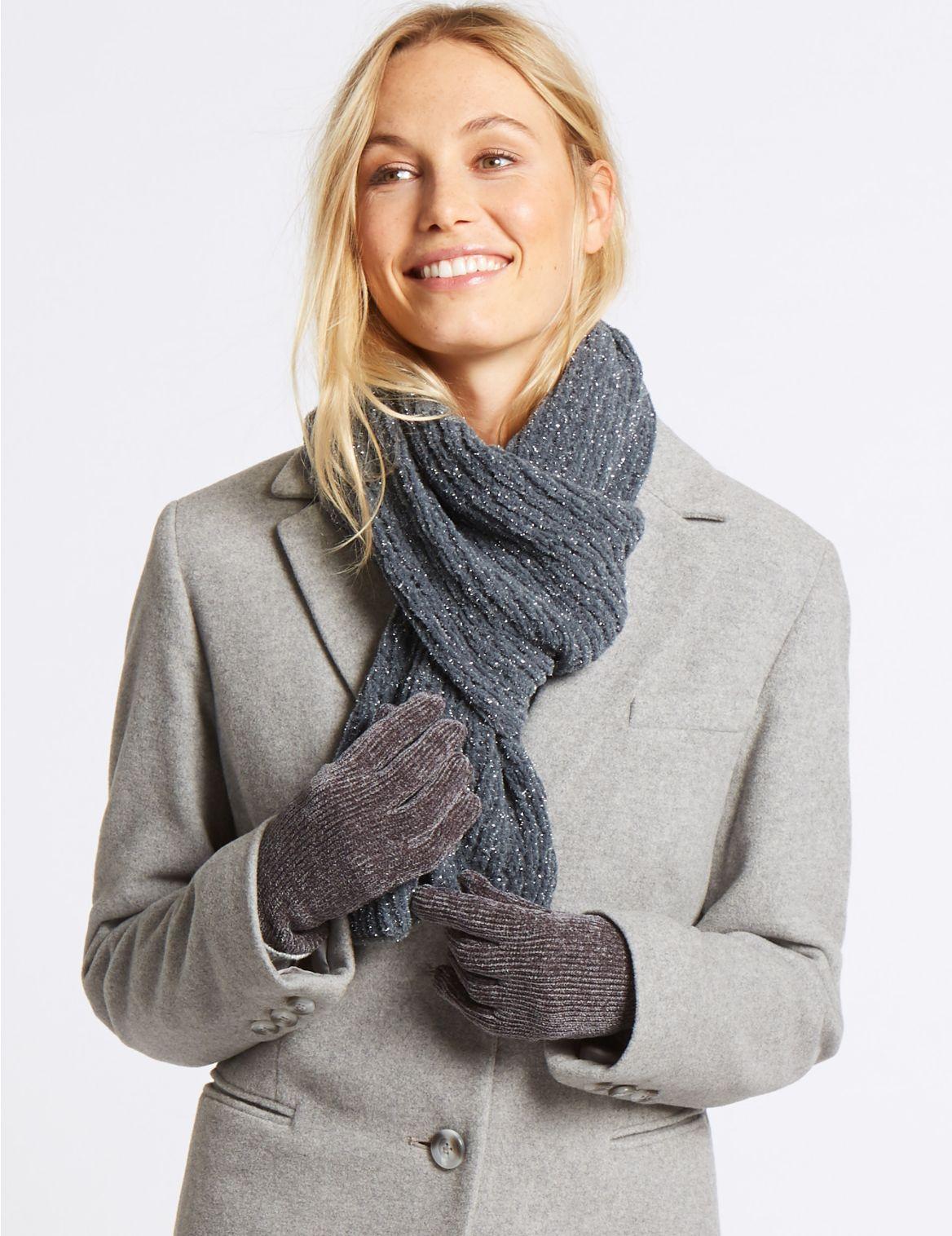 Ensemble gants et ĂŠcharpe effet scintillant