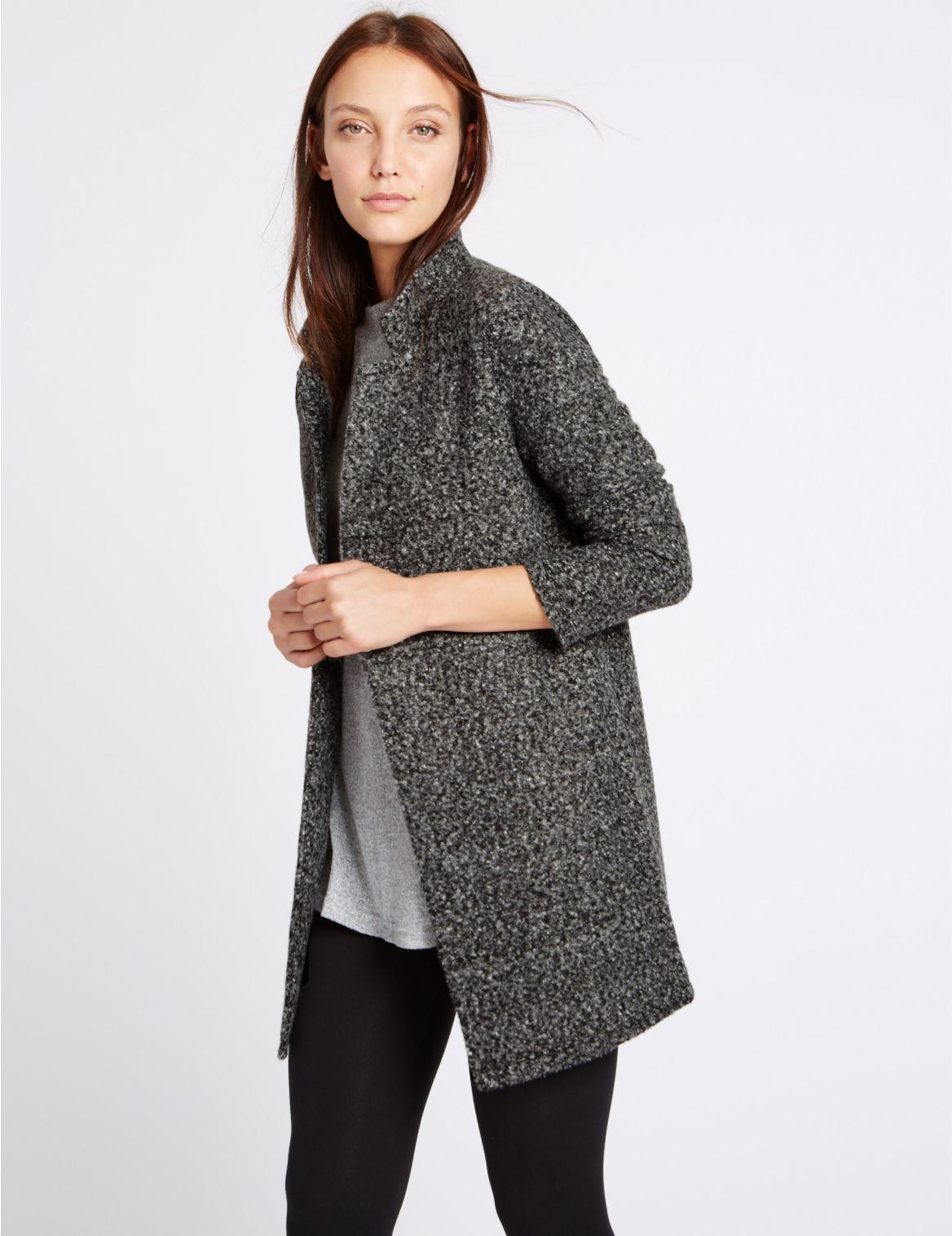Lange jas met lange mouwen en