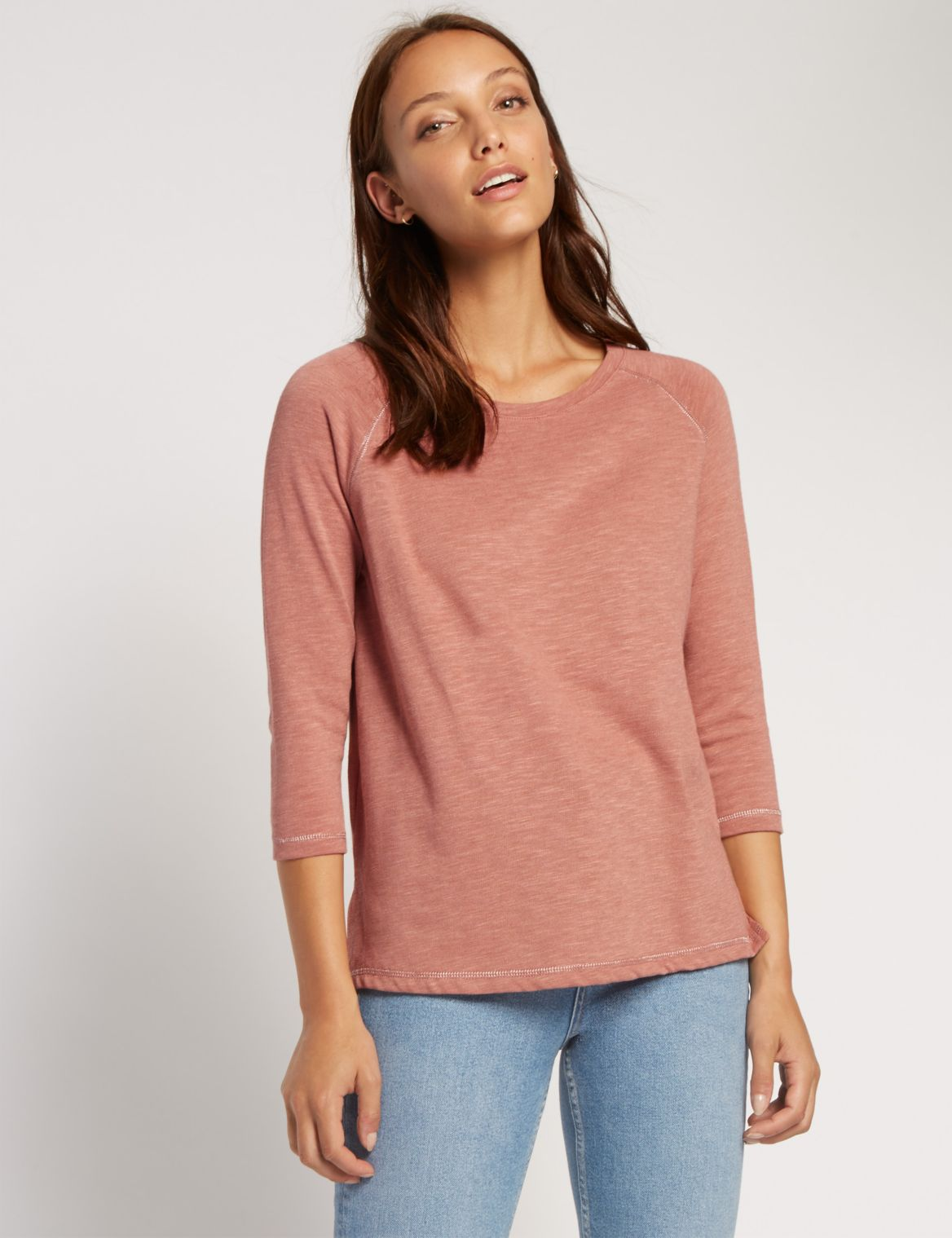 3/4 Sleeve Raglan T-Shirt dark rose