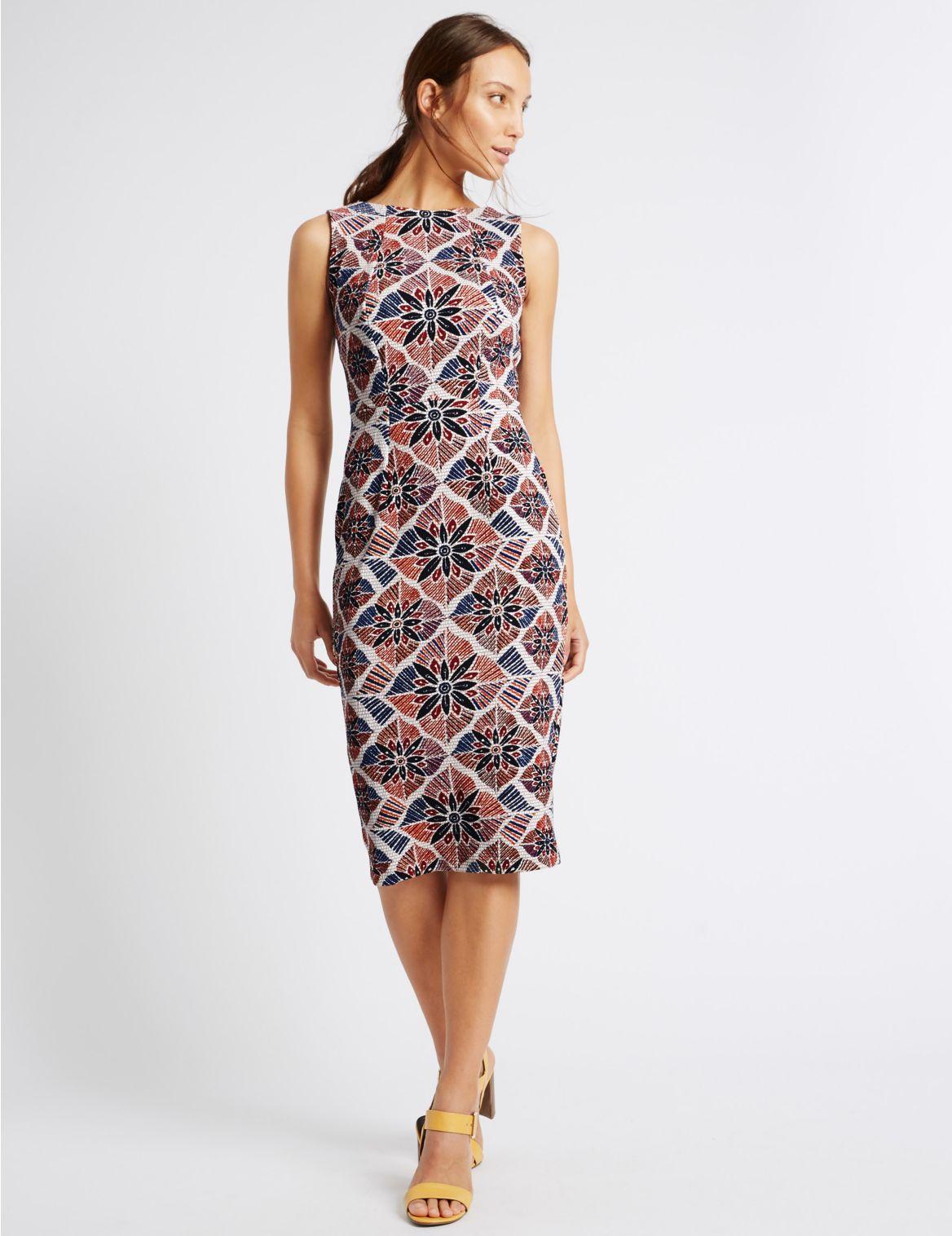 Rechte jurk met print