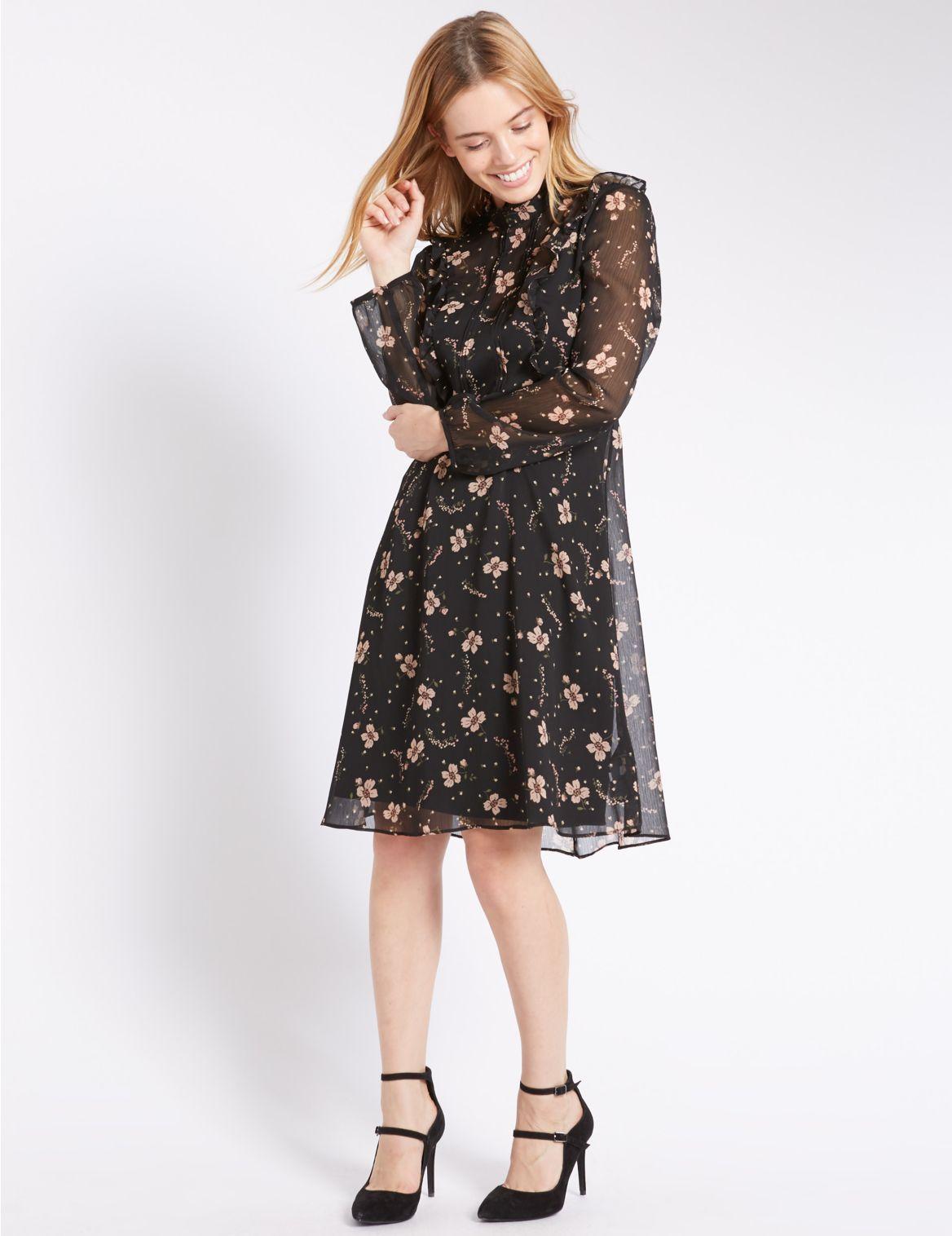 PETITE jurk met bloemmotief