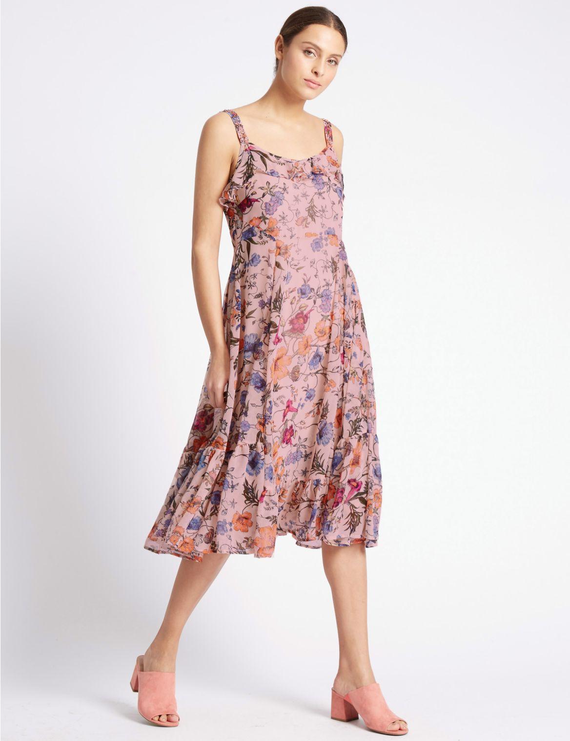 Romantische jurk met bloemmotief