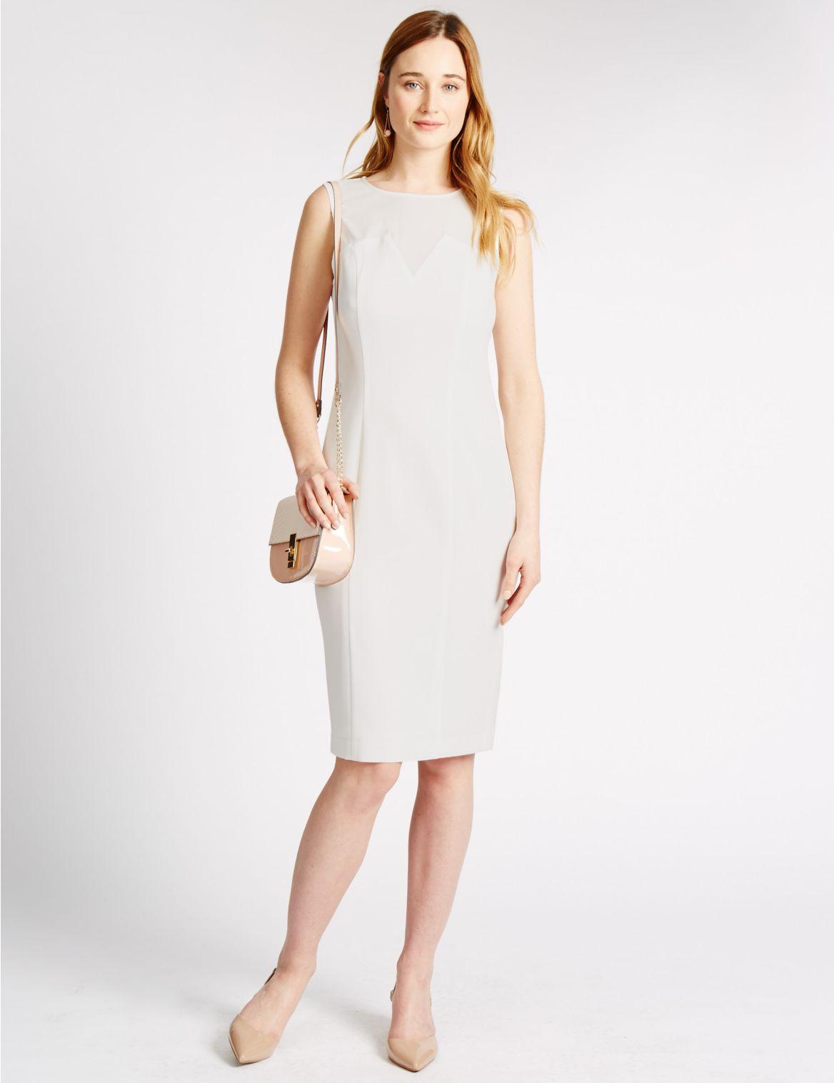 Chiffon Panel Shift Dress