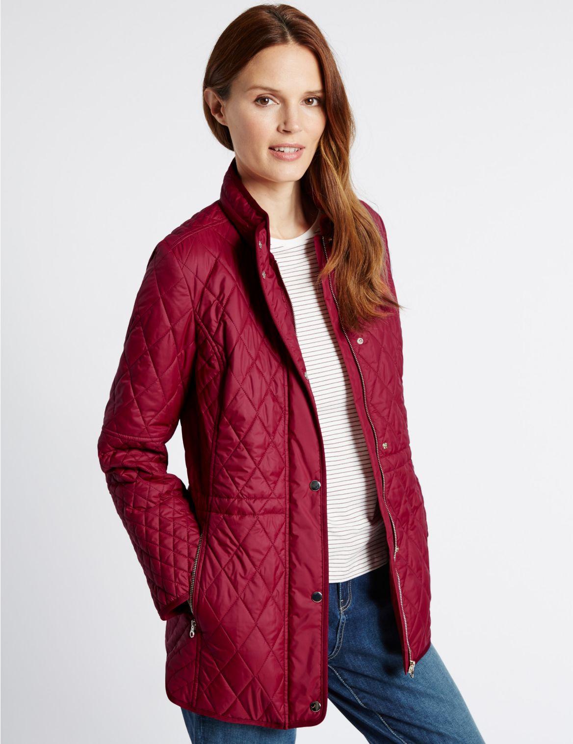 Gewatteerde jas met opstaande