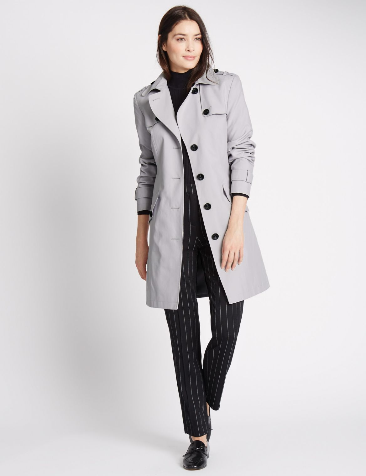 Belted Trench with Stormwear™ silver