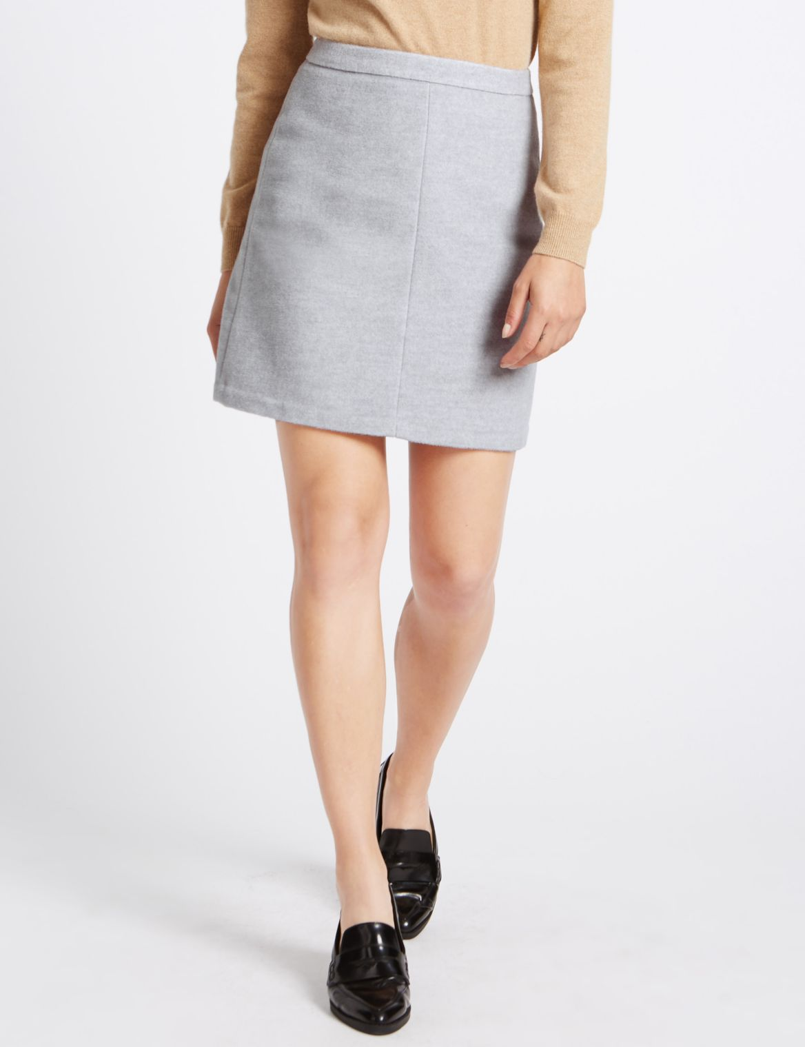 A-Line Mini Skirt grey