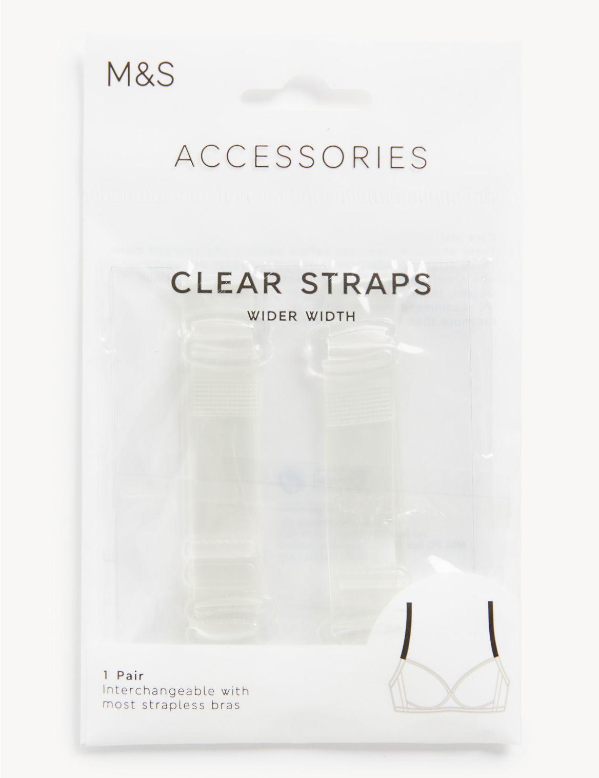 Bretelles de soutien-gorge transparentes amovibles (grande largeur). StyleForme du produit:Lot assorti;Bretelles r??glables;Guide des tailles: adapt??