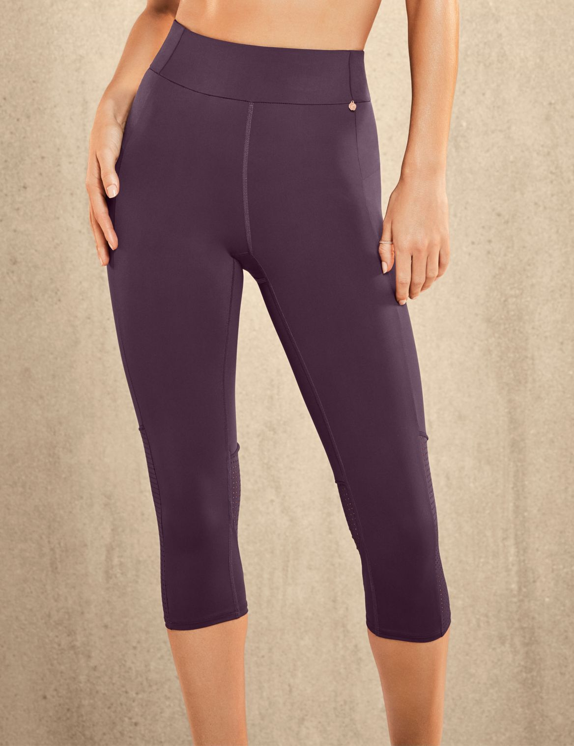 Active Cropped Leggings purple