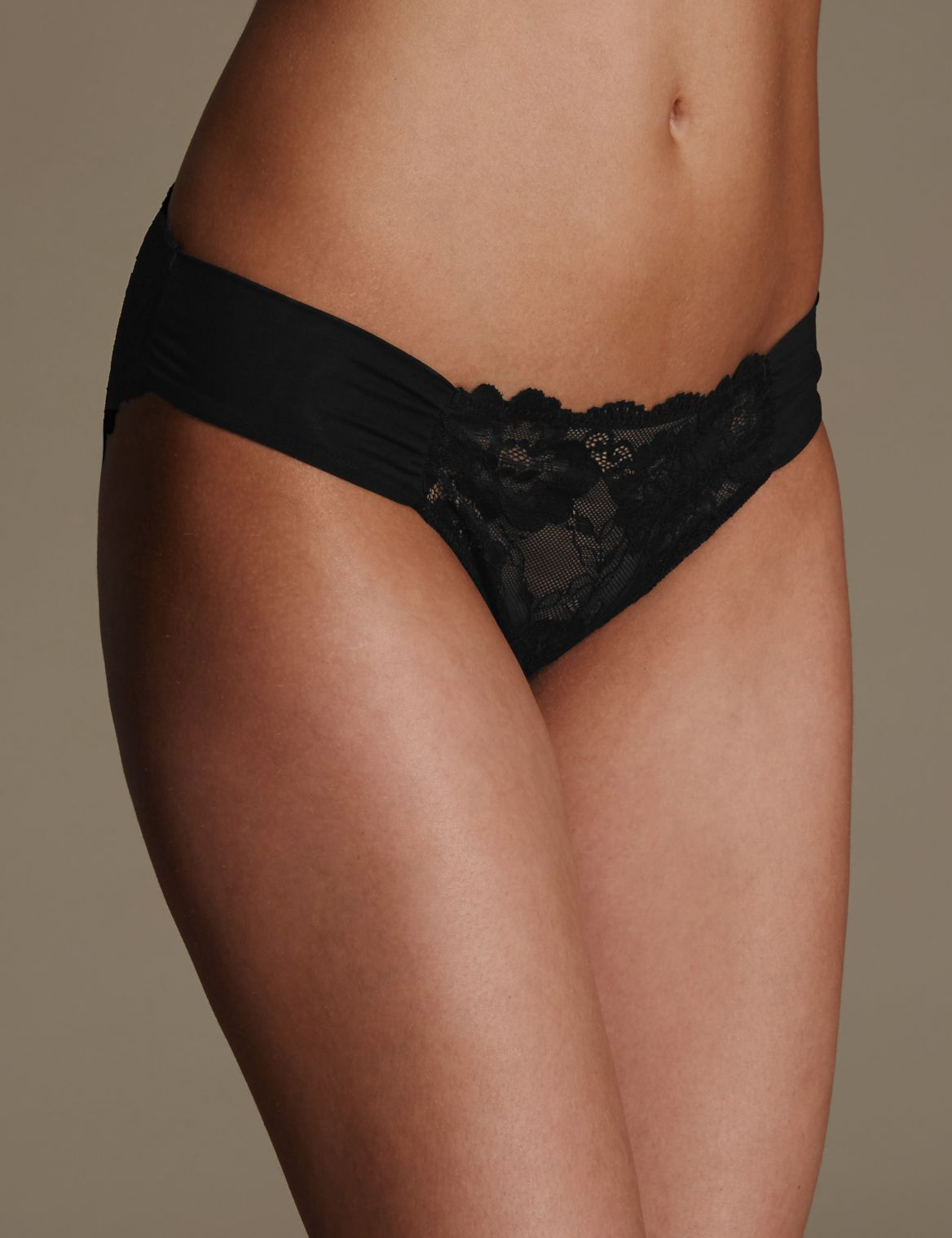Rio Sweetheart All Over Lace Low Rise Bikini Knickers black