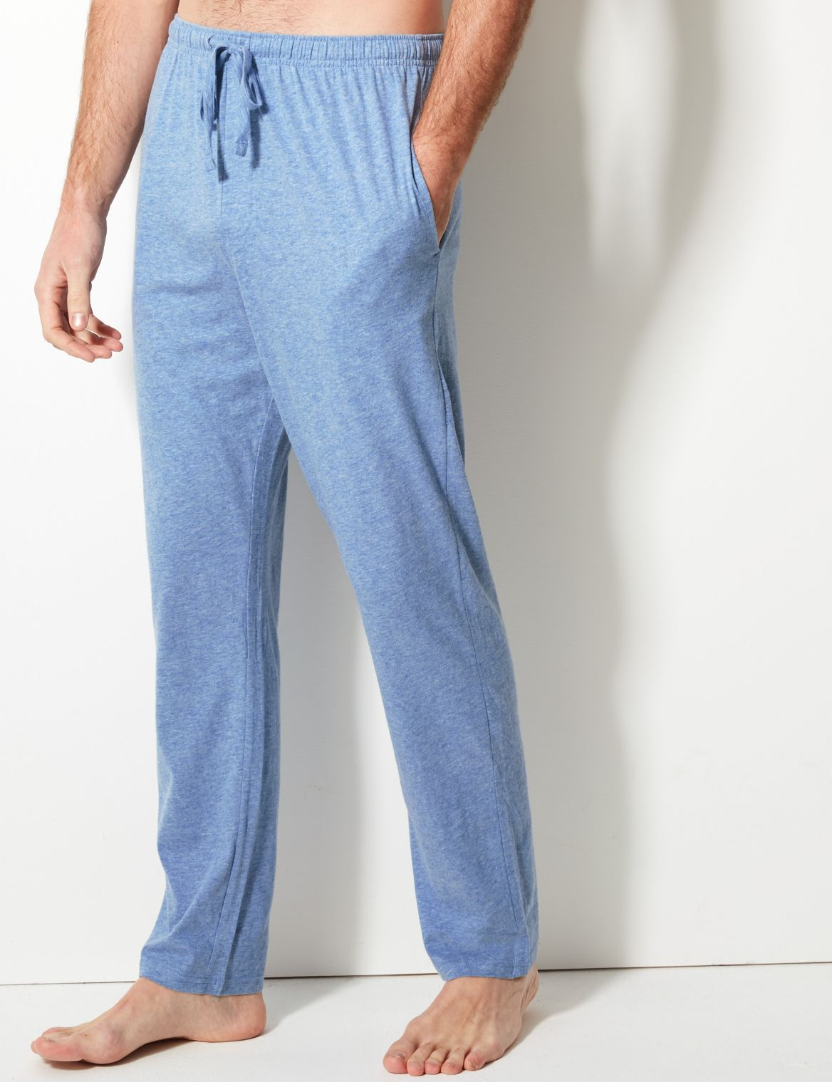 2 Pack Jersey Long Pant Pyjama Bottoms navy/blue