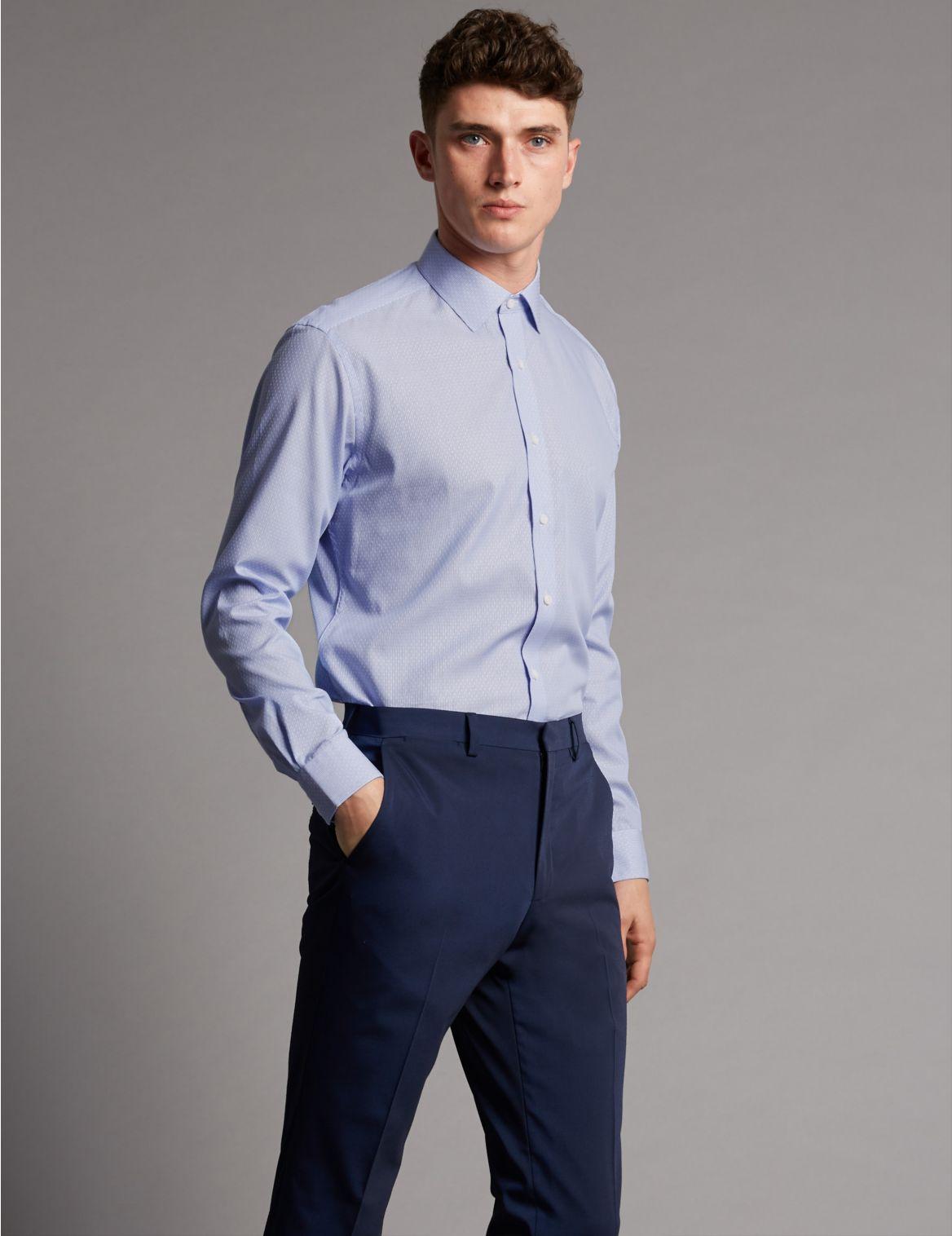 Marks And Spencer Puur Katoenen Gestreept Overhemd Met Elegante Snit