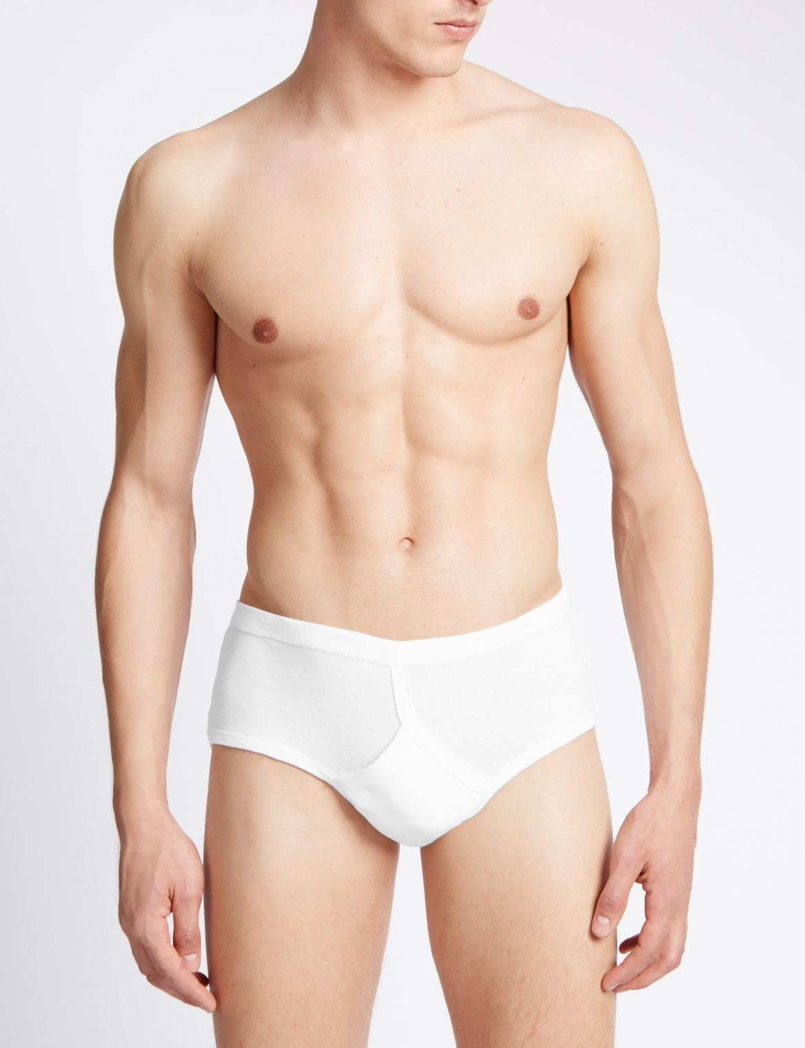3 Pack Pure Cotton Briefs with StayNEW™ white