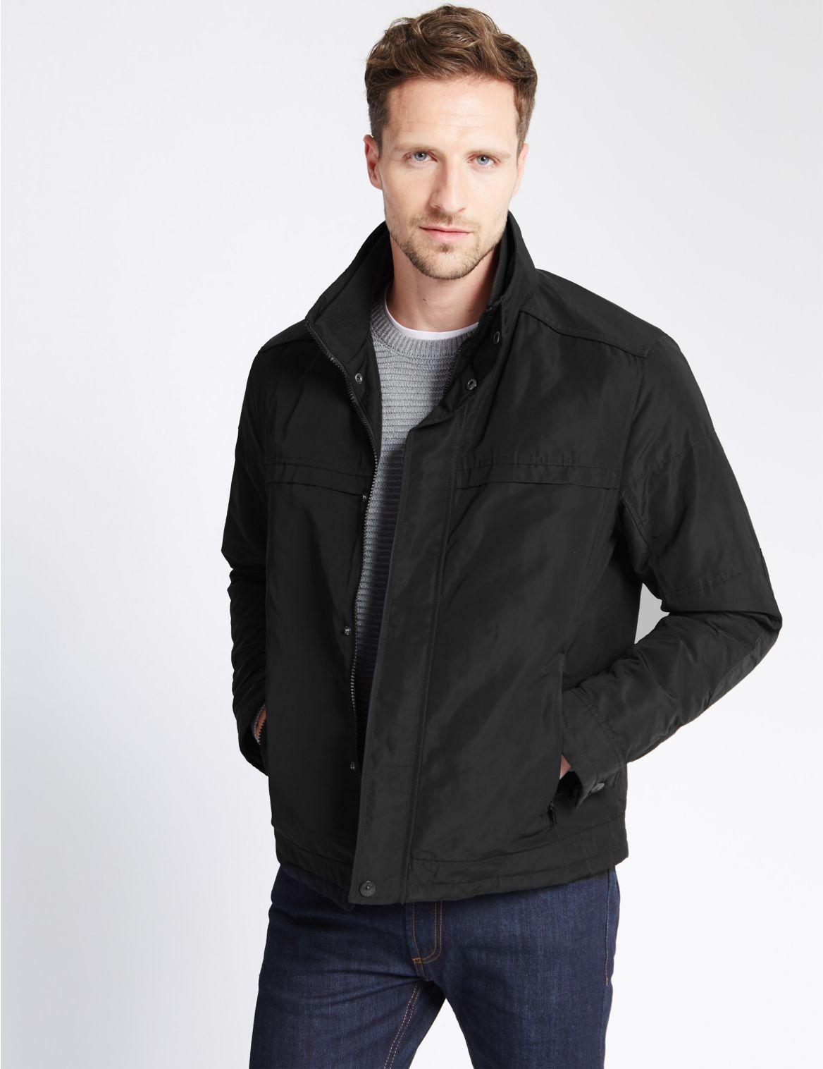 Korte jas met opstaande kraag en