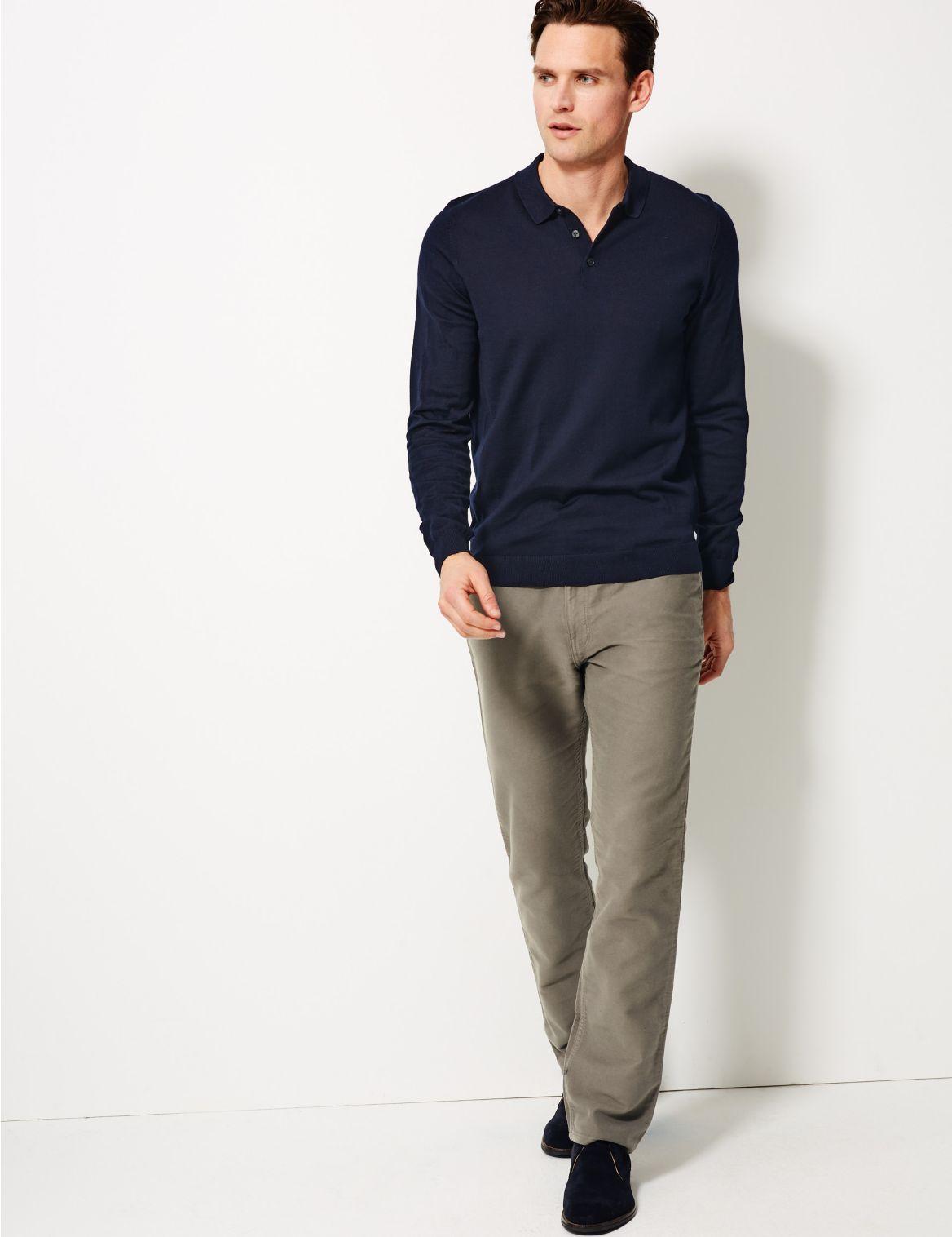 Big & Tall Broek in jeansstijl met