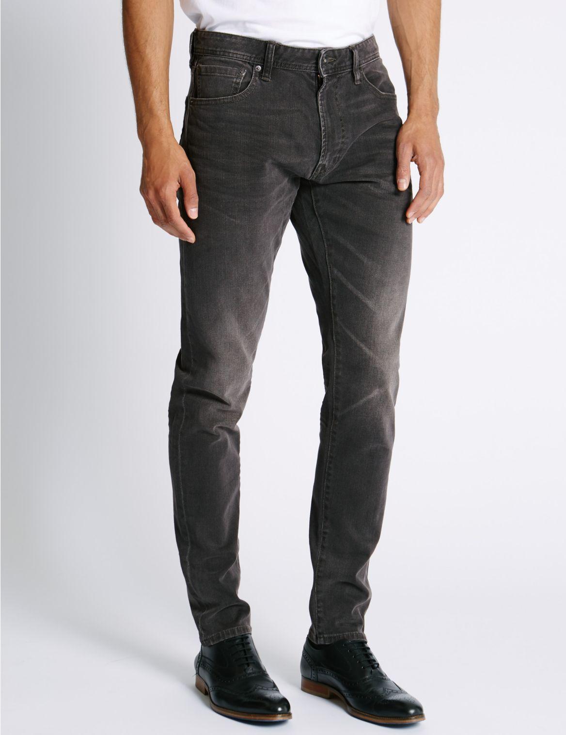 Verwassen jeans met slanke pasvorm