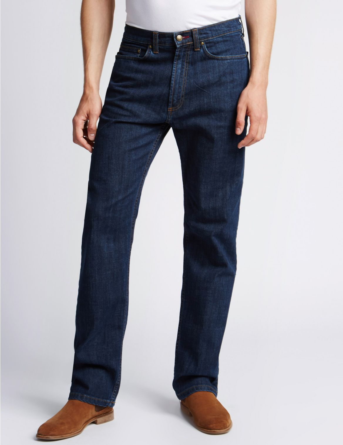 "Jeans met StayNewâ""¢ en normale"