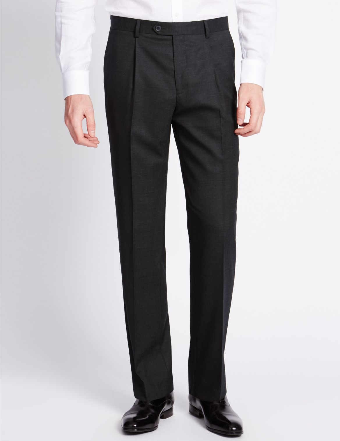 Marks And Spencer Big & Tall - Luxe Broek Van Zuiver Wol