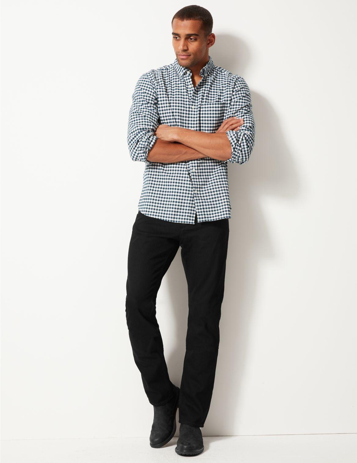 Puur katoenen jeans met normale