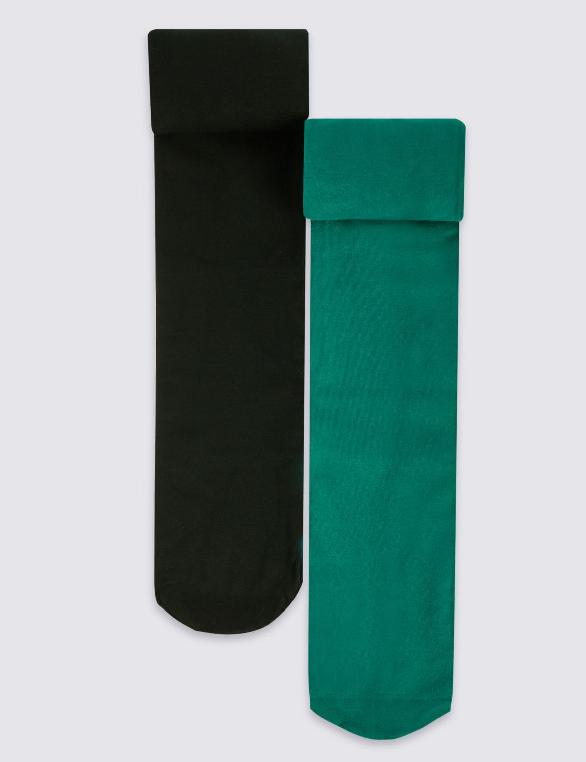 100 Denier 2 Pack of Freshfeet™ Assorted Opaque Tights (4-14 Years) green mix
