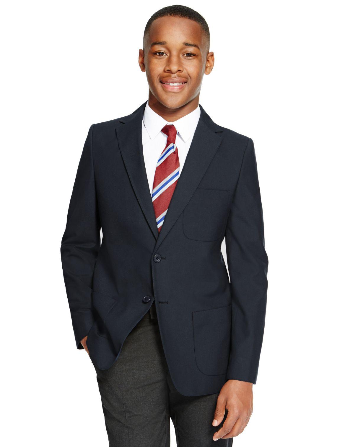 Blazer jeune homme infroissable. StyleForme du produit:Blazer;Coupe:Coupe standard;Fermeture:Devant boutonn??;Doublure;Longueur des manches:Manches lo