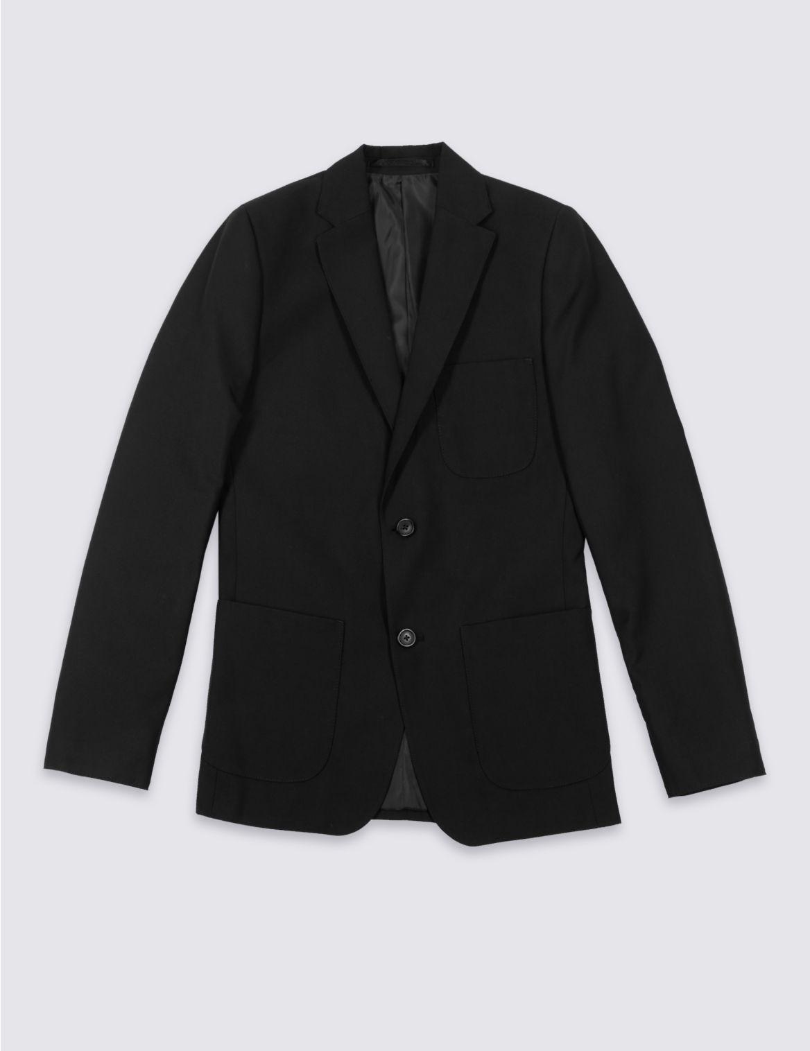 PLUS– Blazer jeune homme. StyleForme du produit:Blazer;Coupe:Plus;Fermeture:Devant boutonn??;Doublure;Longueur des manches:Manches longues