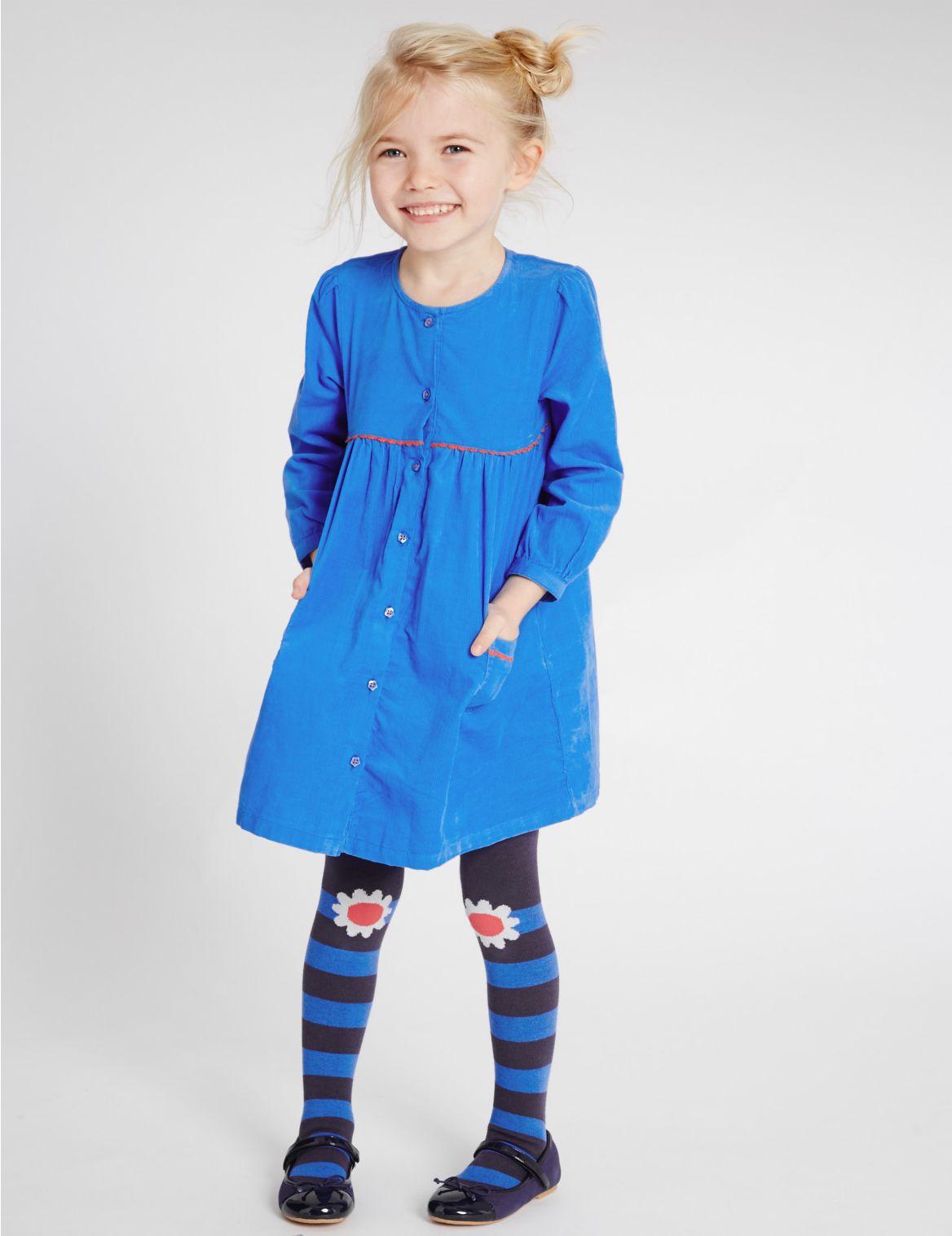 2delige outfit met corduroy jurk