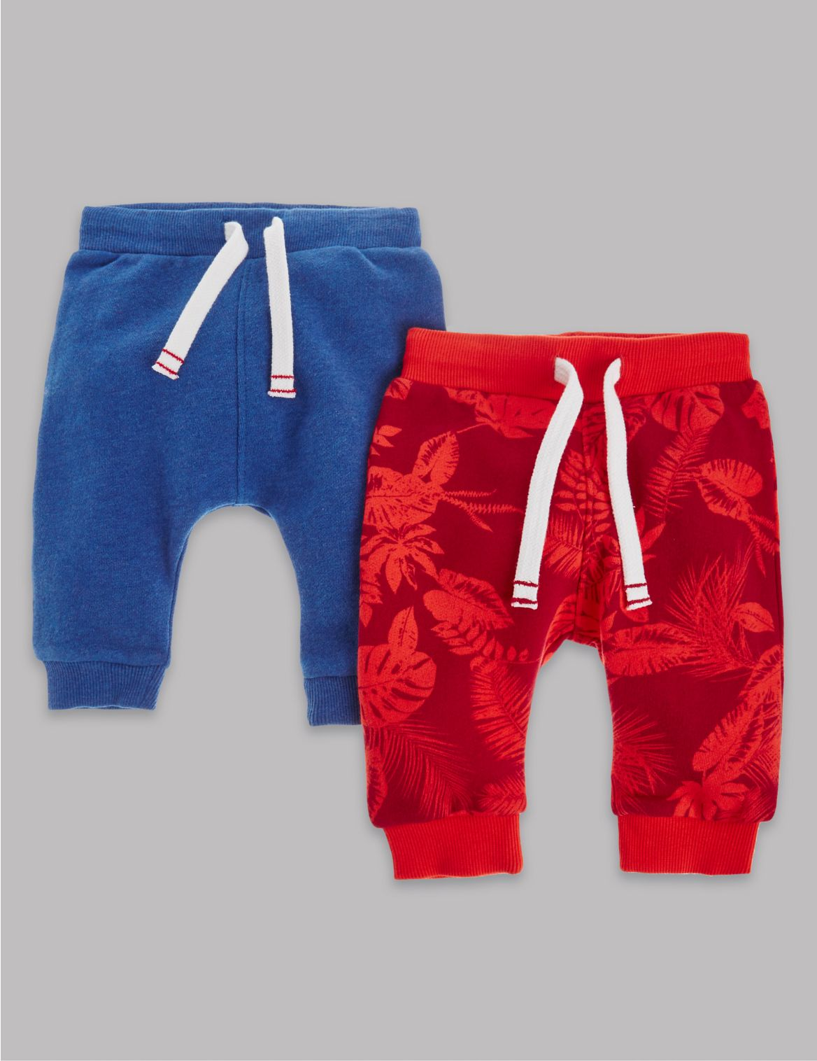 2 Pack Pure Cotton Assorted Joggers