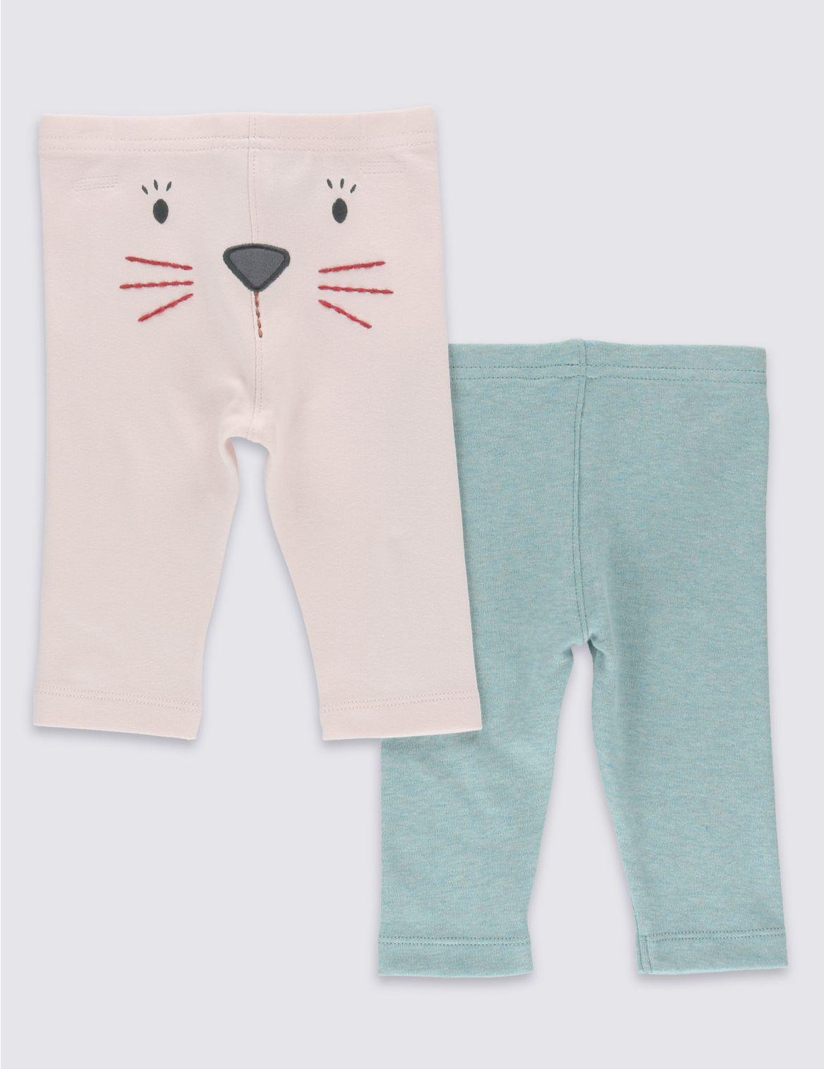 Set van 2 leggings voor meisjes