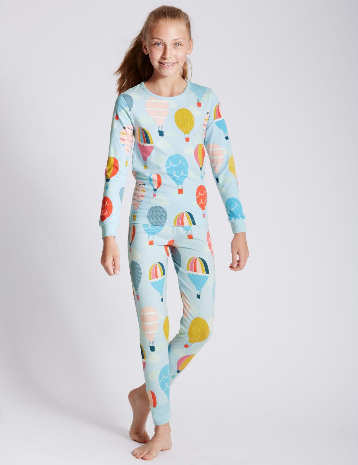 Katoenrijke pyjama met