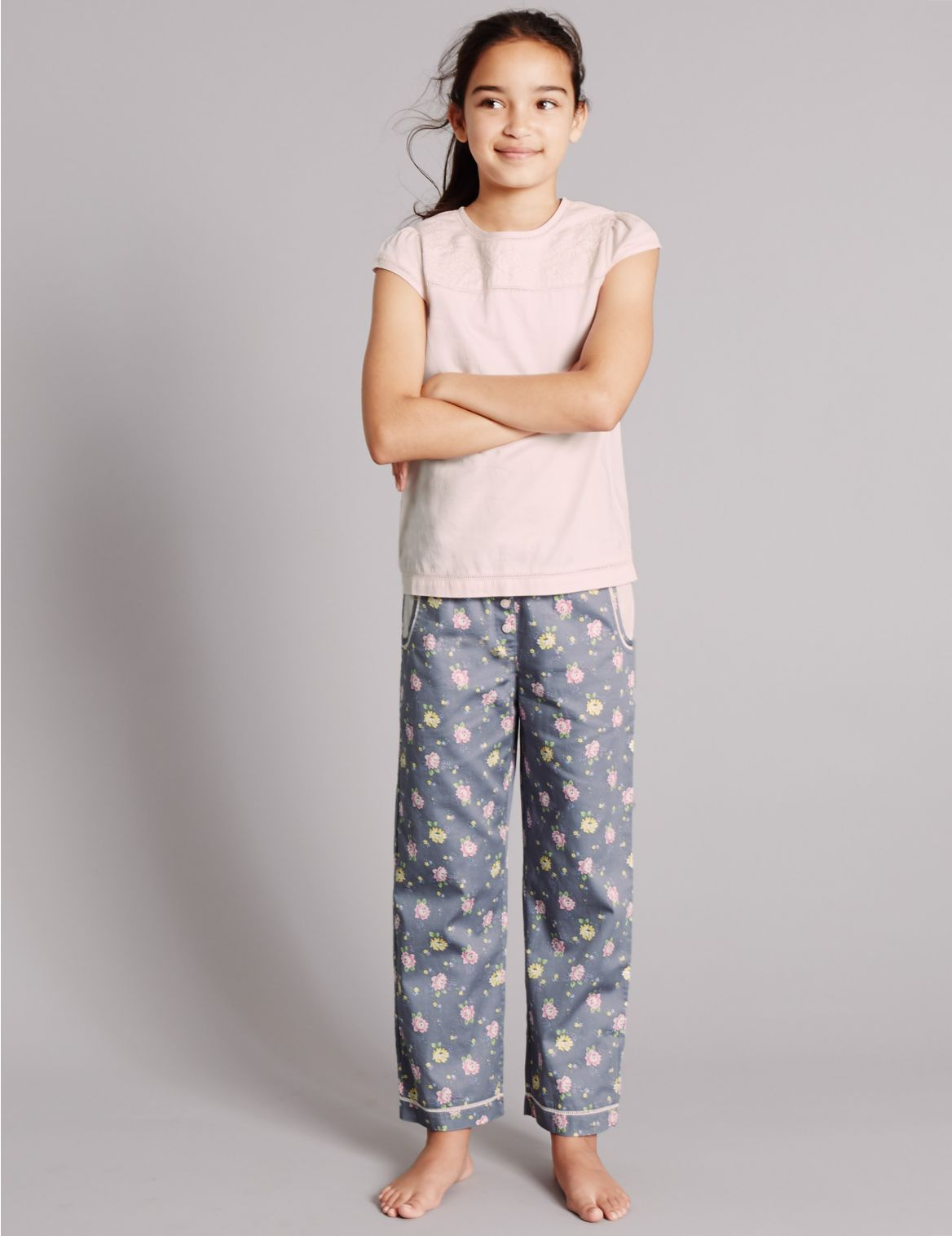 Pure Cotton Floral Print Pyjamas