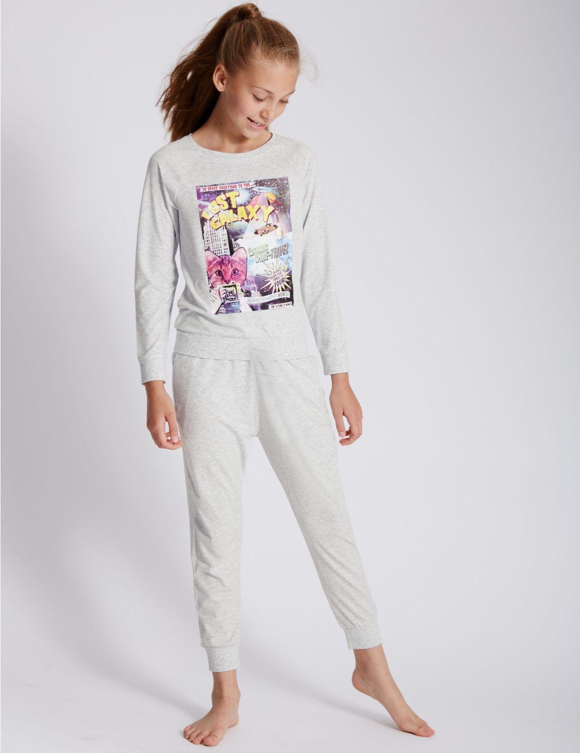 Pyjama met lange mouwen en