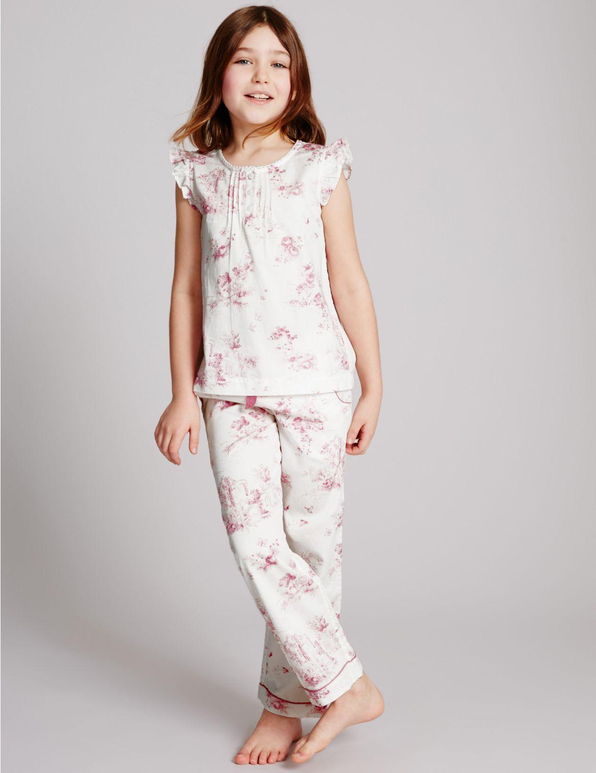 Pyjama van puur katoen (116 jaar)