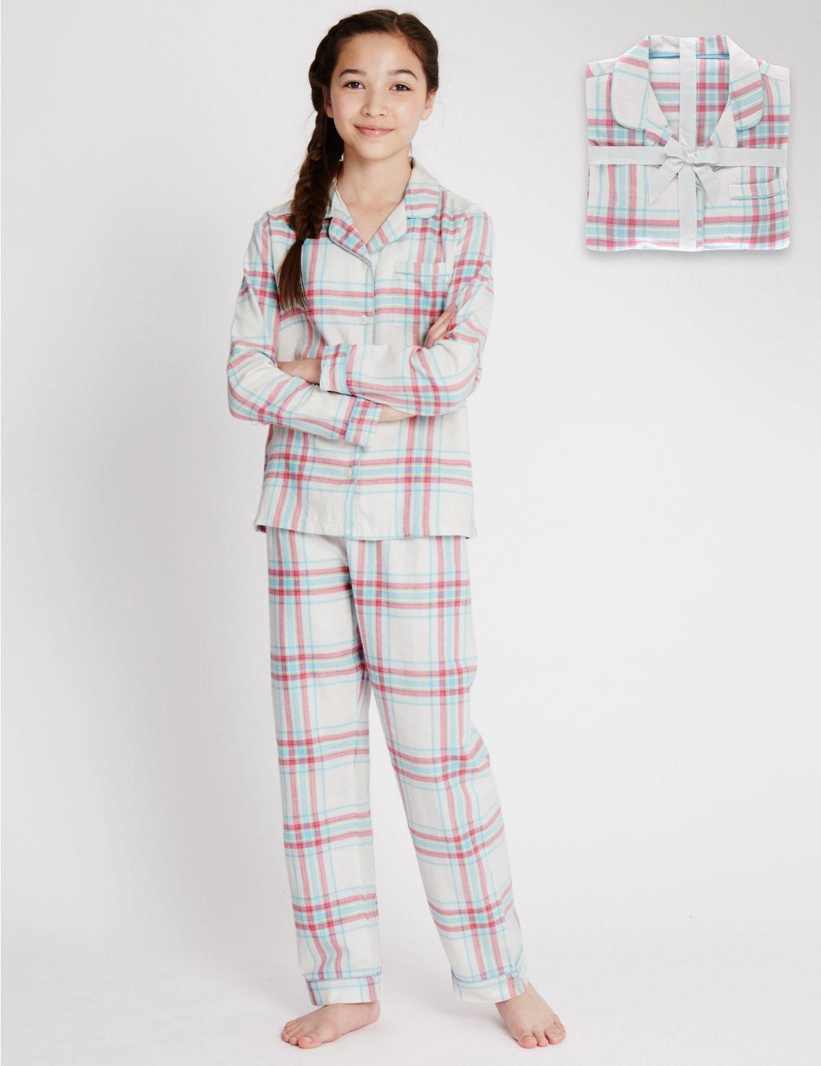 Geruite pyjama van puur katoen