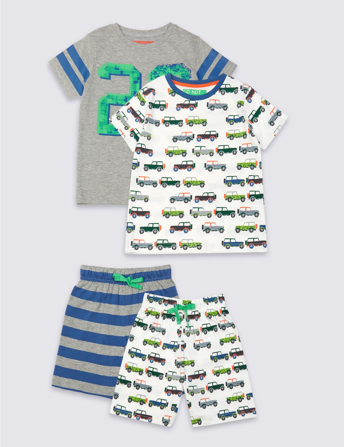 Set van 2 korte pyjama s (9
