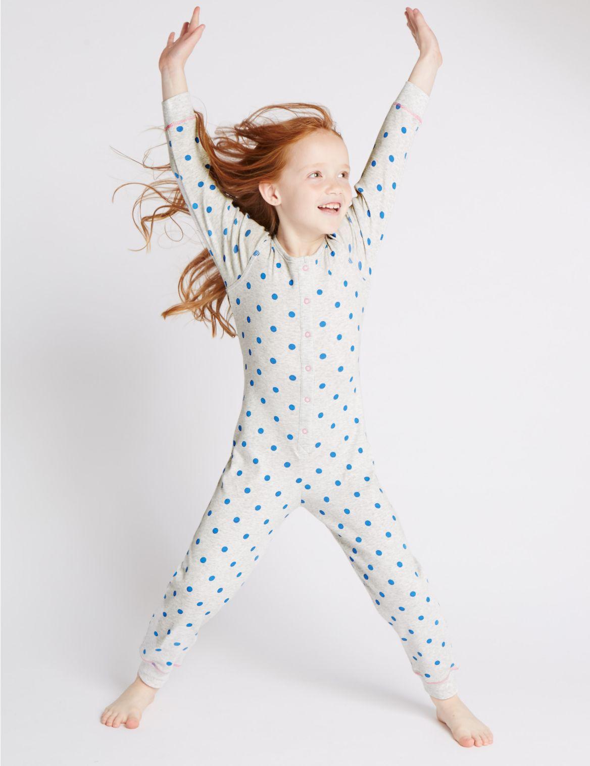 Puur katoenen pyjama met stippen