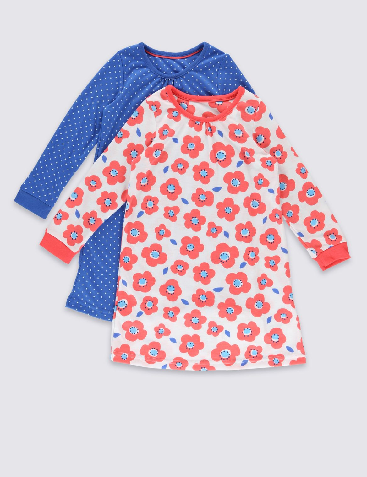 2 Pack Nightdress (9 Months - 8 Years) blue mix
